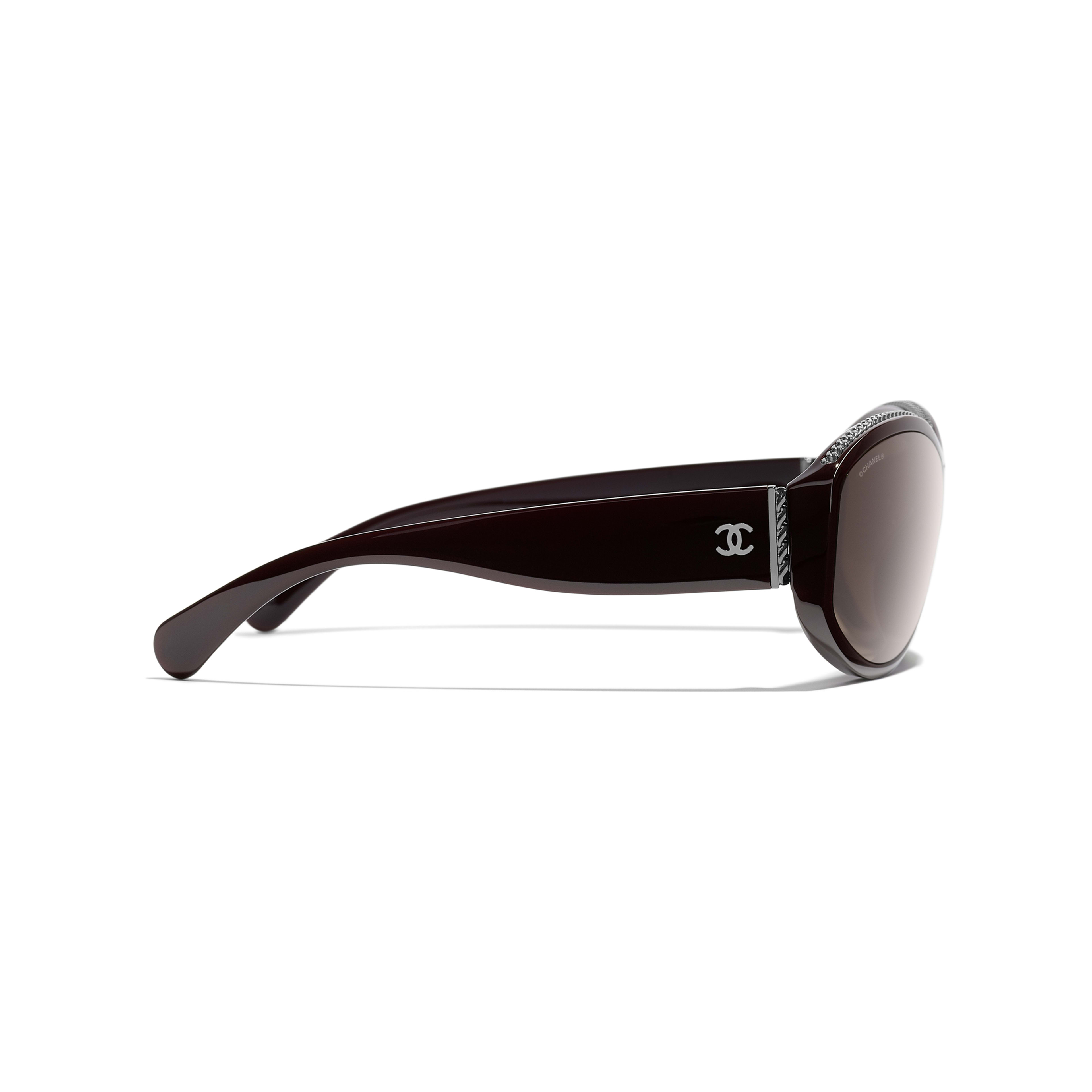 Shield Sunglasses - Burgundy - Nylon & Metal - Other view - see standard sized version