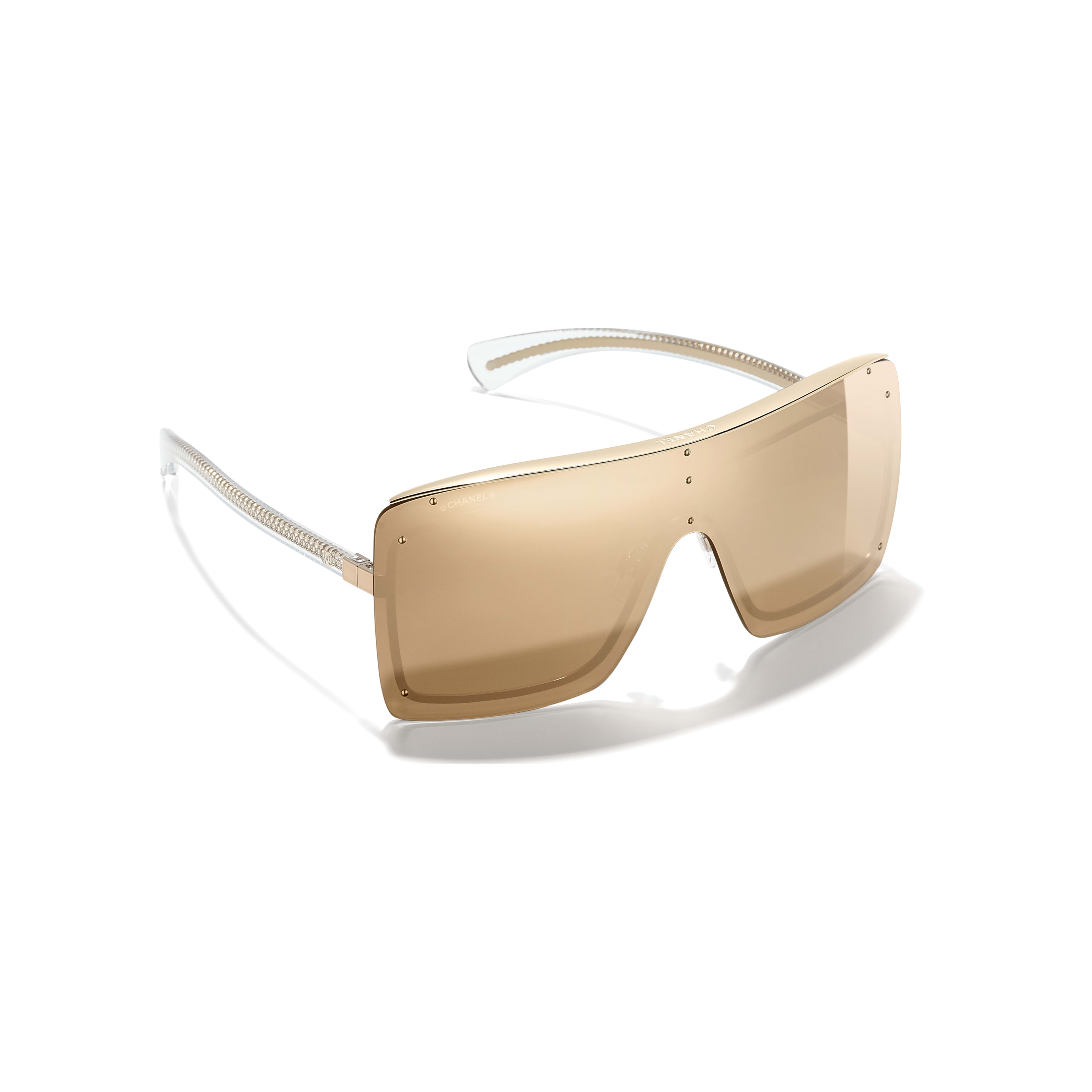 Shield Sunglasses - Gold - Metal - 18-Karat Gold Lenses - Extra view - see standard sized version
