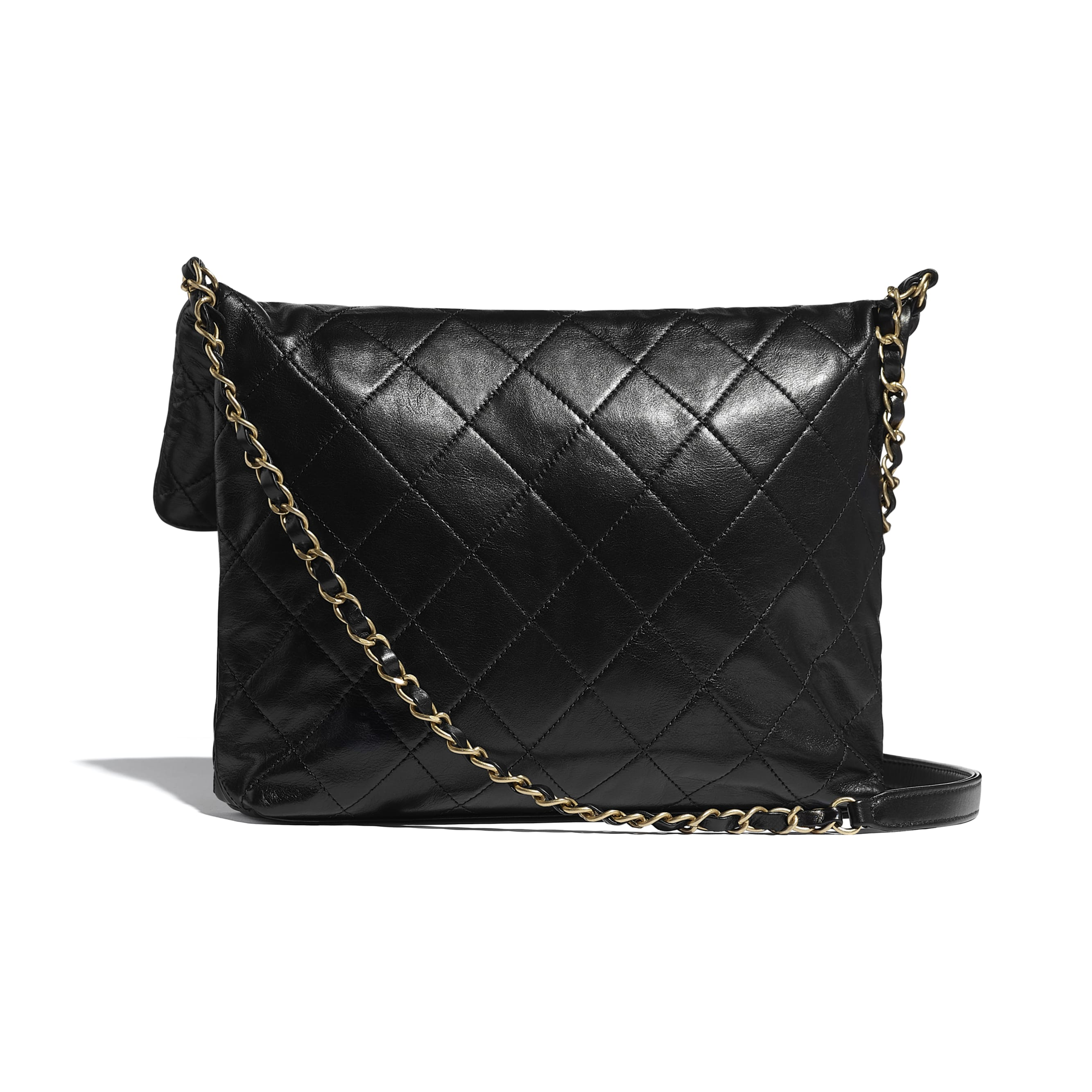 Shopping Bag - Black - Calfskin, Crystal Pearls & Gold-Tone Metal - CHANEL - Alternative view - see standard sized version