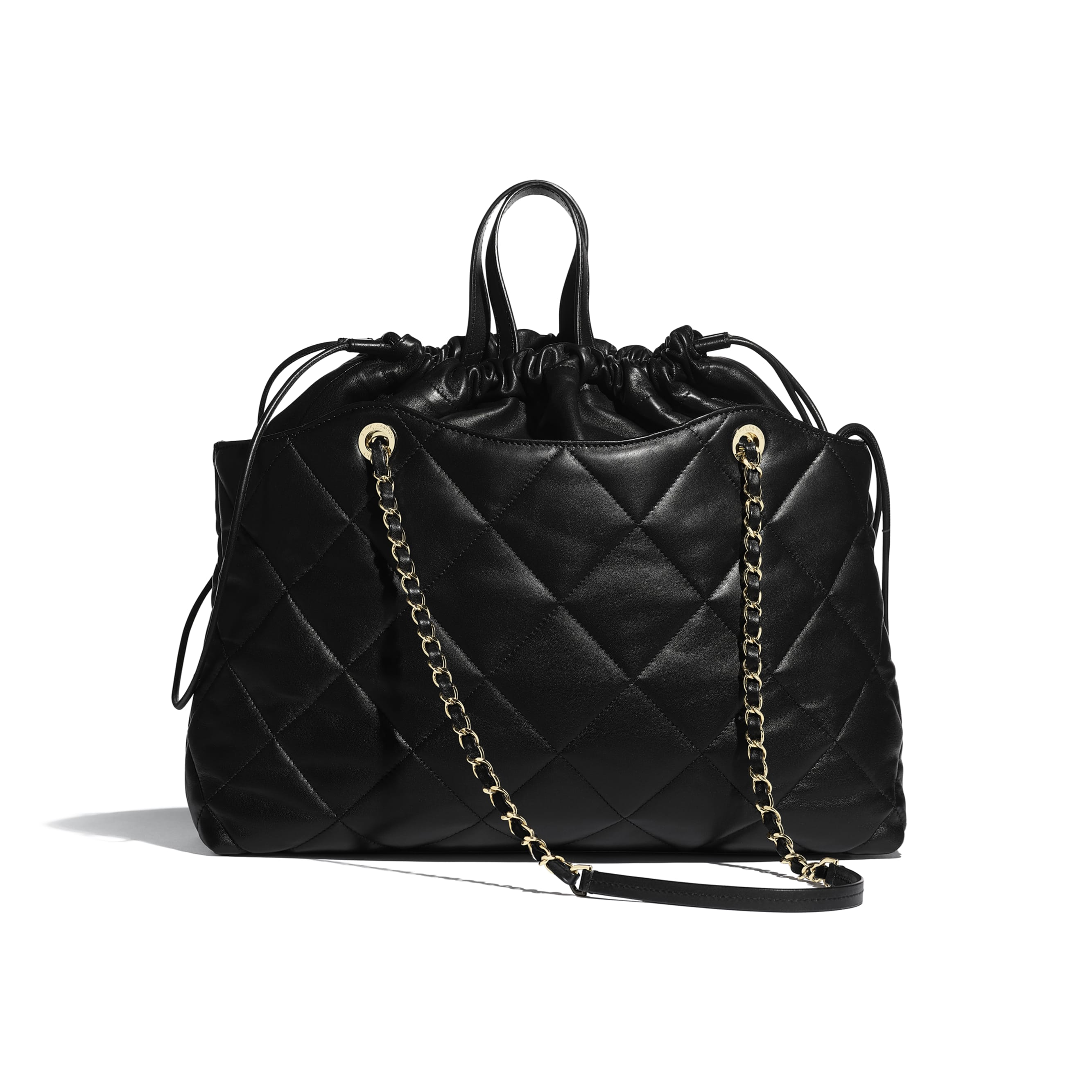 Shopping Bag - Black - Lambskin - Alternative view - see standard sized version