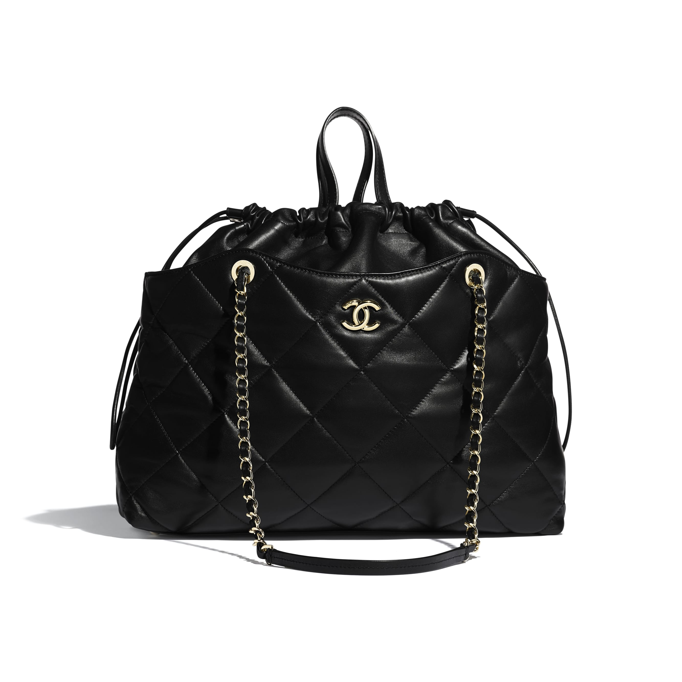 Shopping Bag - Black - Lambskin - Default view - see standard sized version