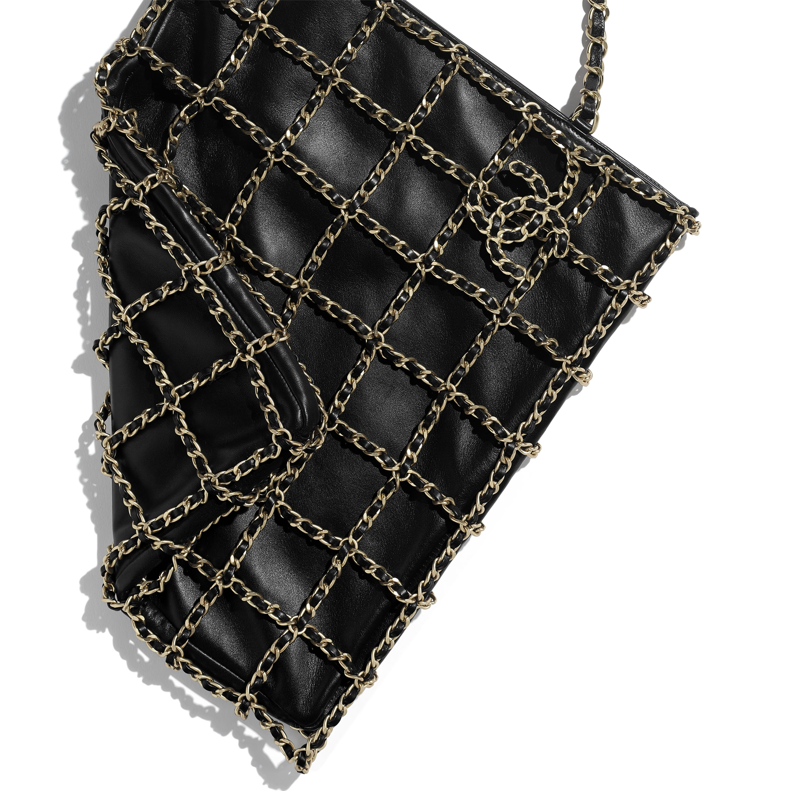 Shopping Bag - Black - Lambskin - Extra view - see standard sized version