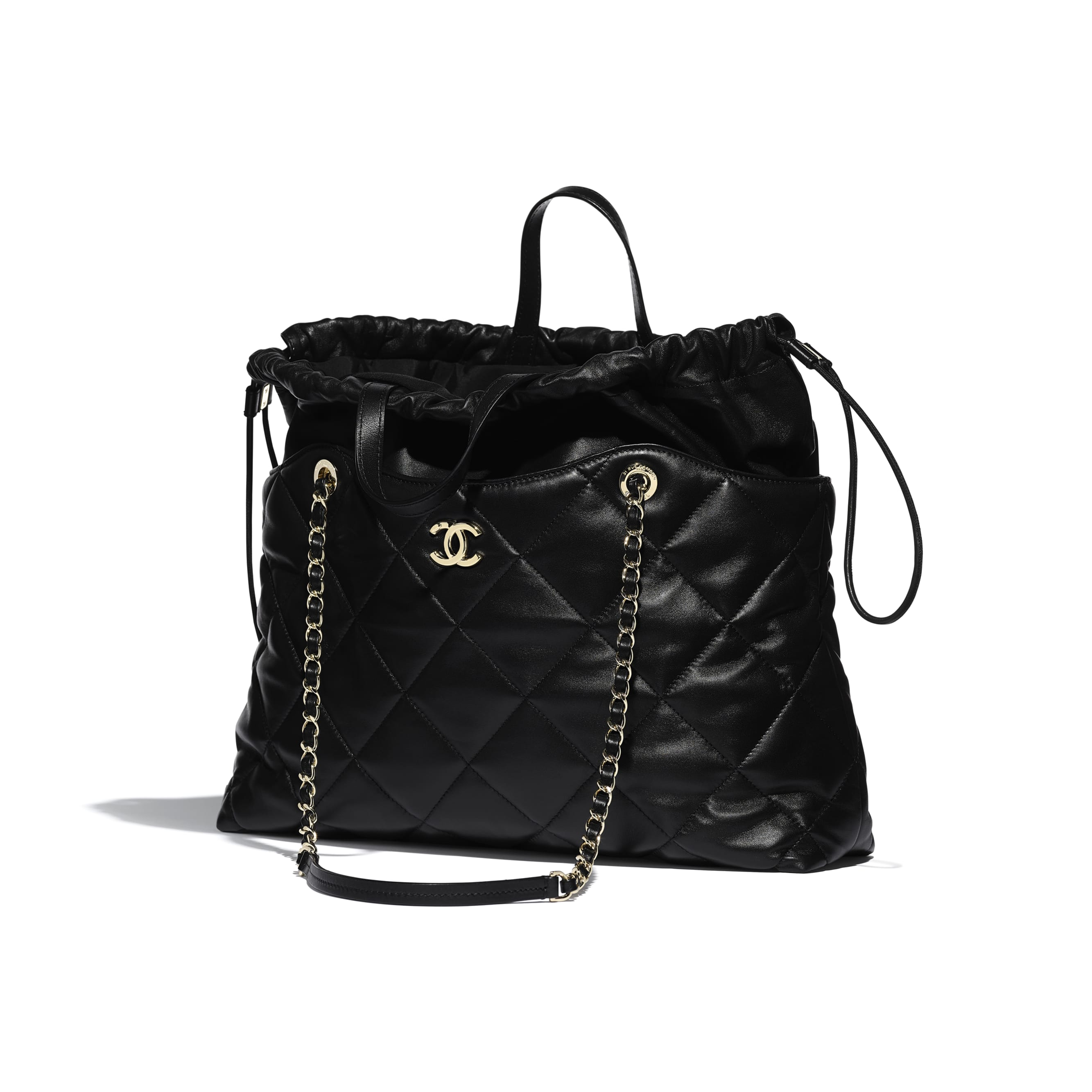 Shopping Bag - Black - Lambskin - Other view - see standard sized version