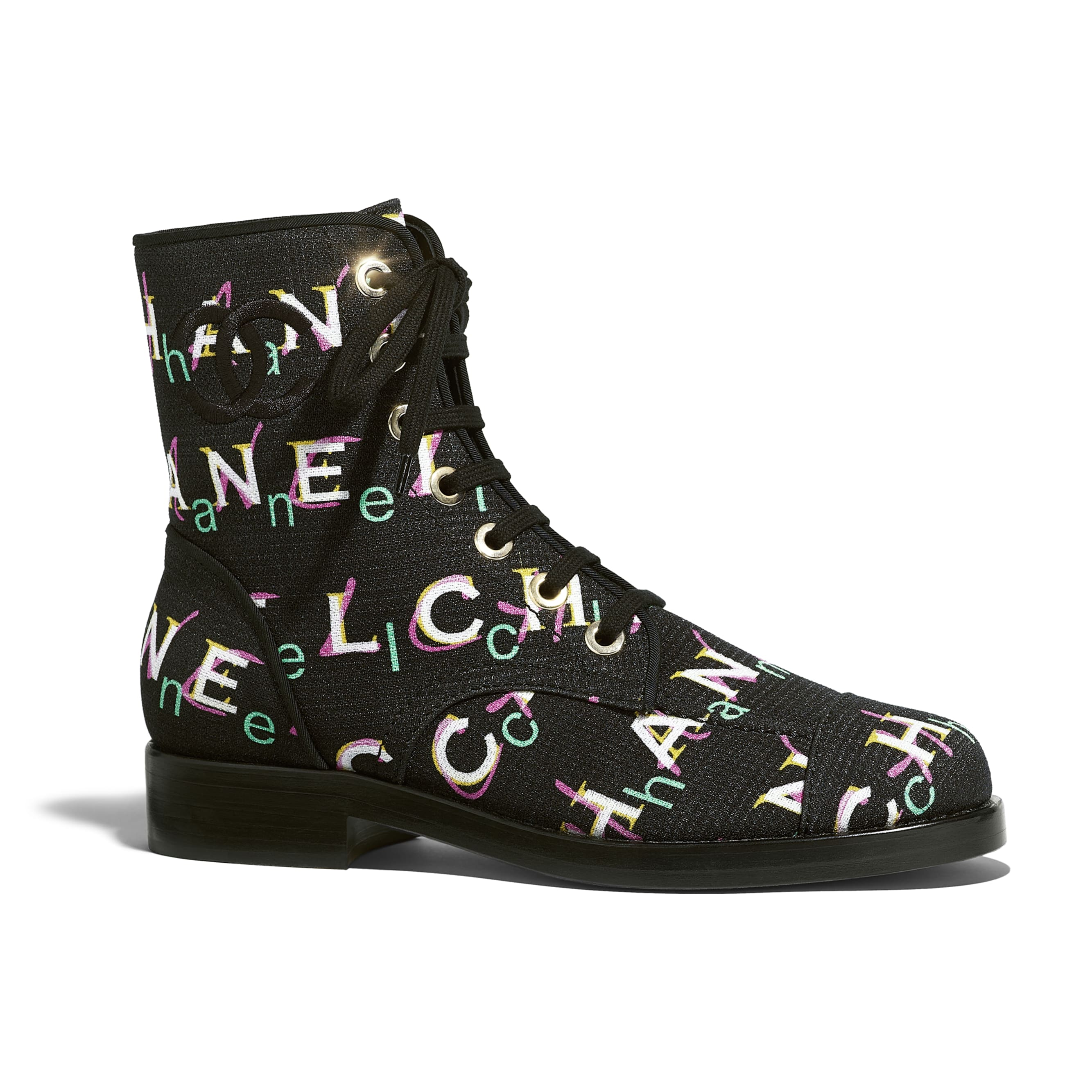 Short Boots - Black & Multicolor - Tweed - Default view - see standard sized version