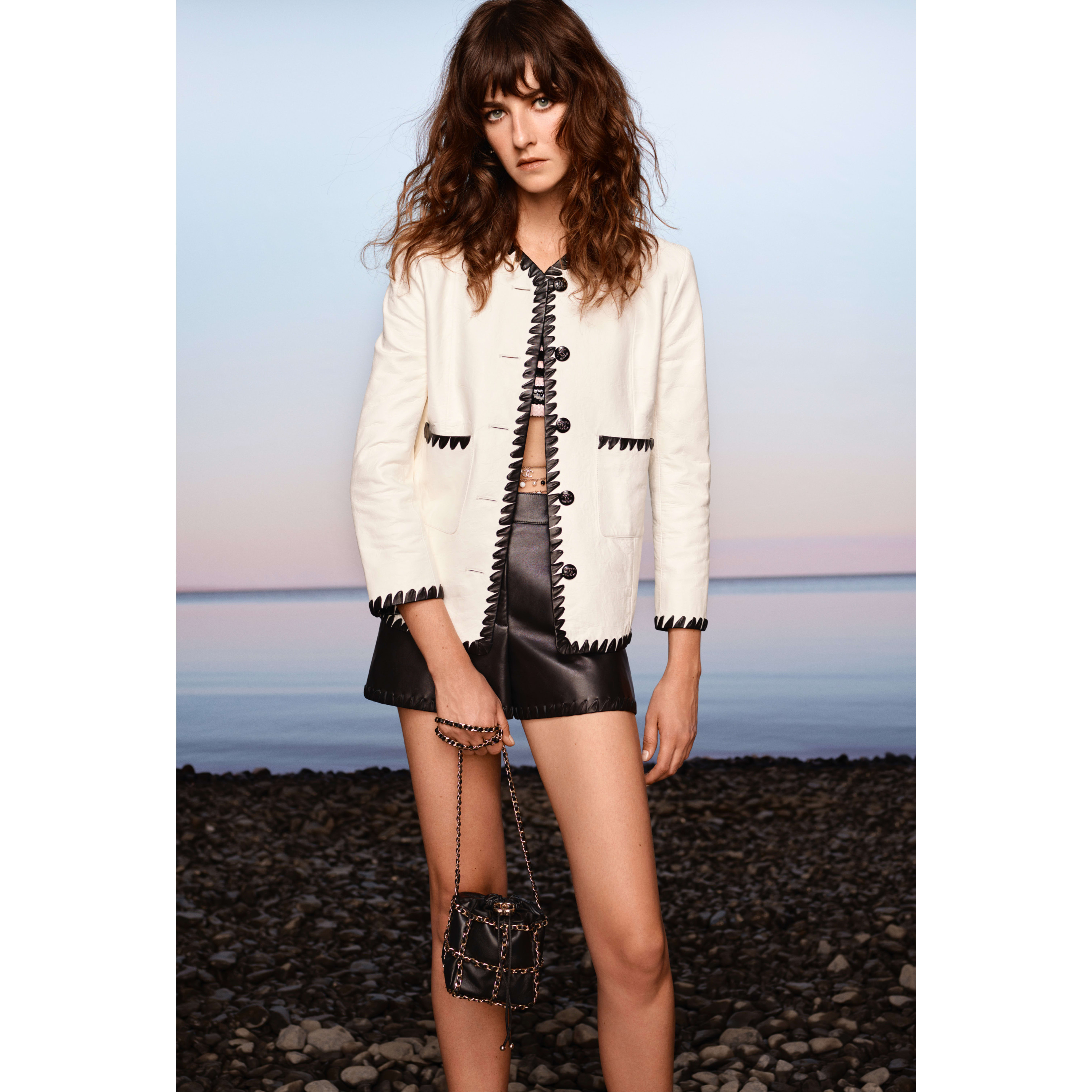 Shorts - Black - Lambskin - CHANEL - Default view - see standard sized version
