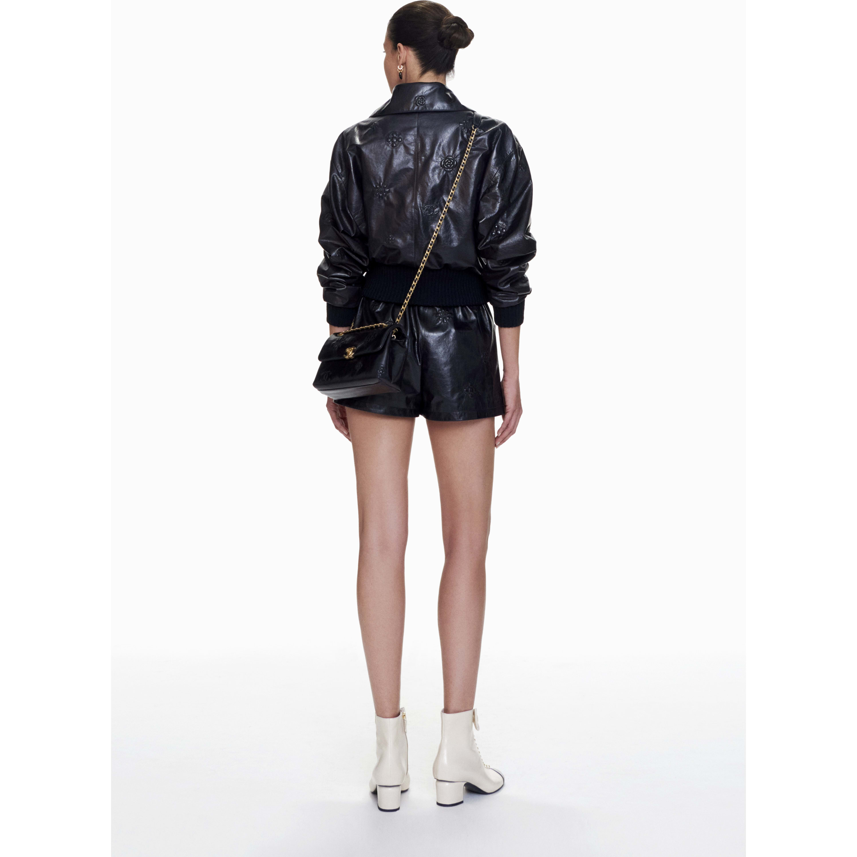 Shorts - Navy Blue - Lambskin - CHANEL - Alternative view - see standard sized version