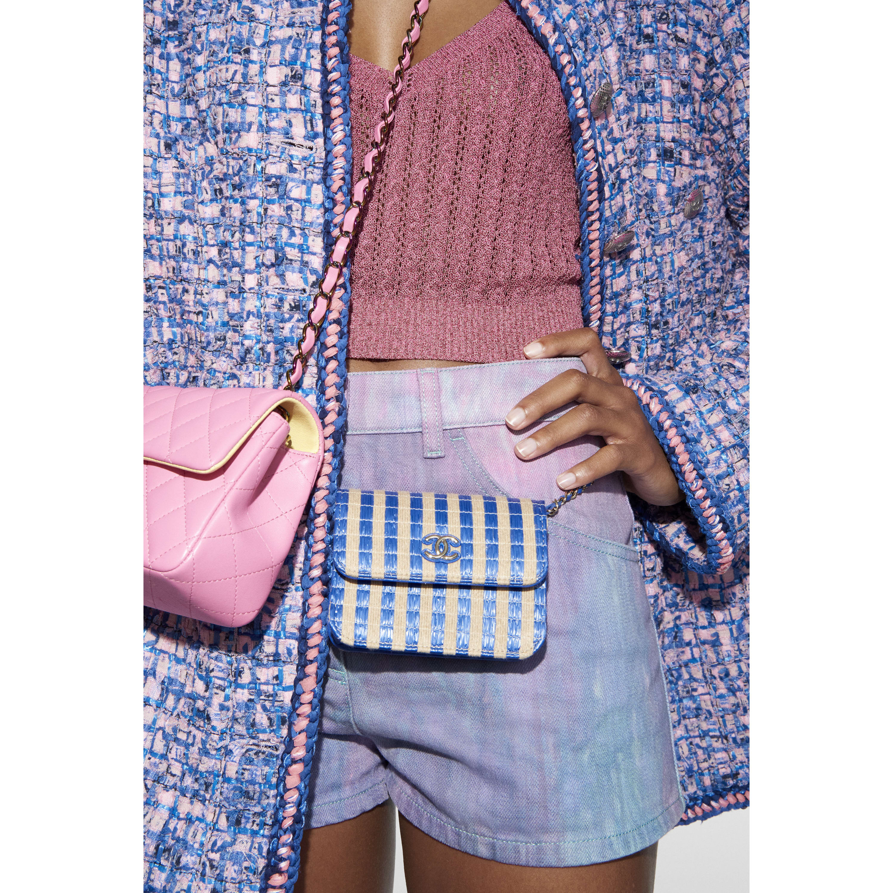Shorts - Purple, Blue & Pink - Denim - CHANEL - Alternative view - see standard sized version