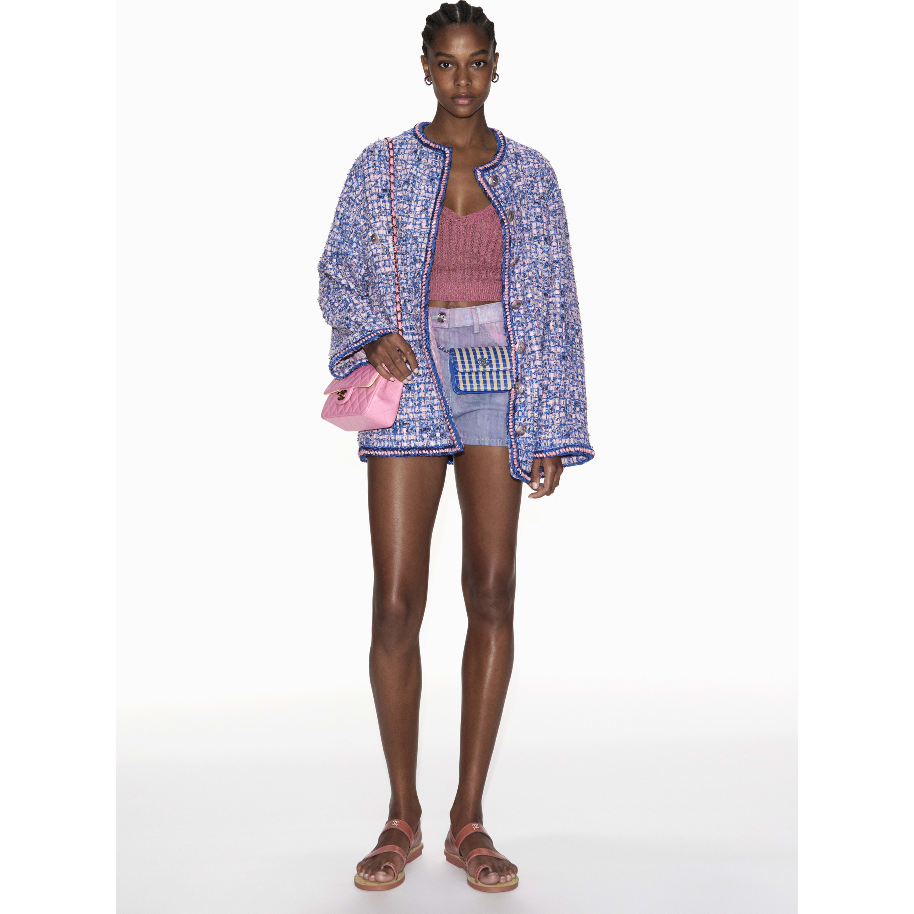 Shorts - Purple, Blue & Pink - Denim - CHANEL - Default view - see standard sized version
