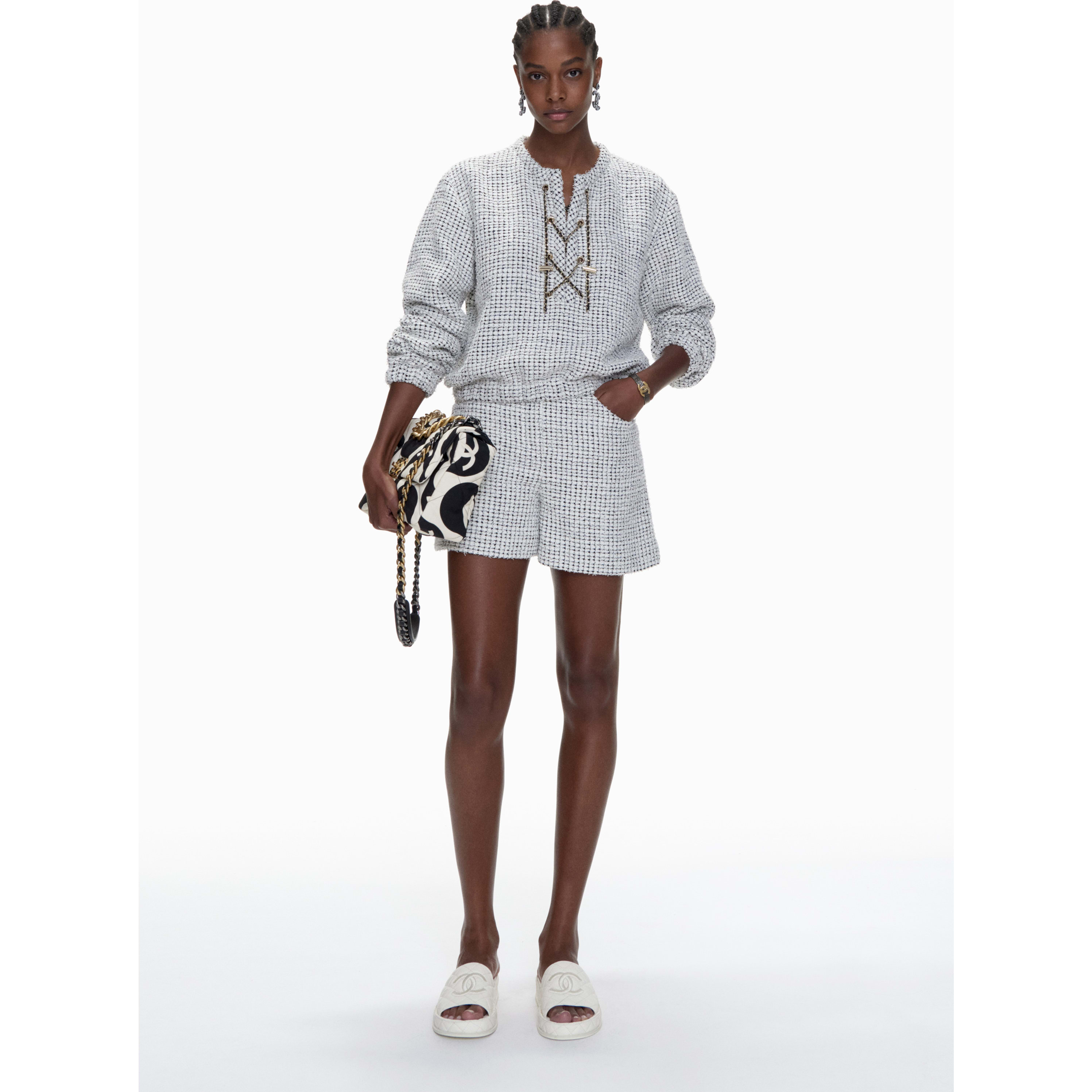 Shorts - White & Black - Tweed - CHANEL - Default view - see standard sized version