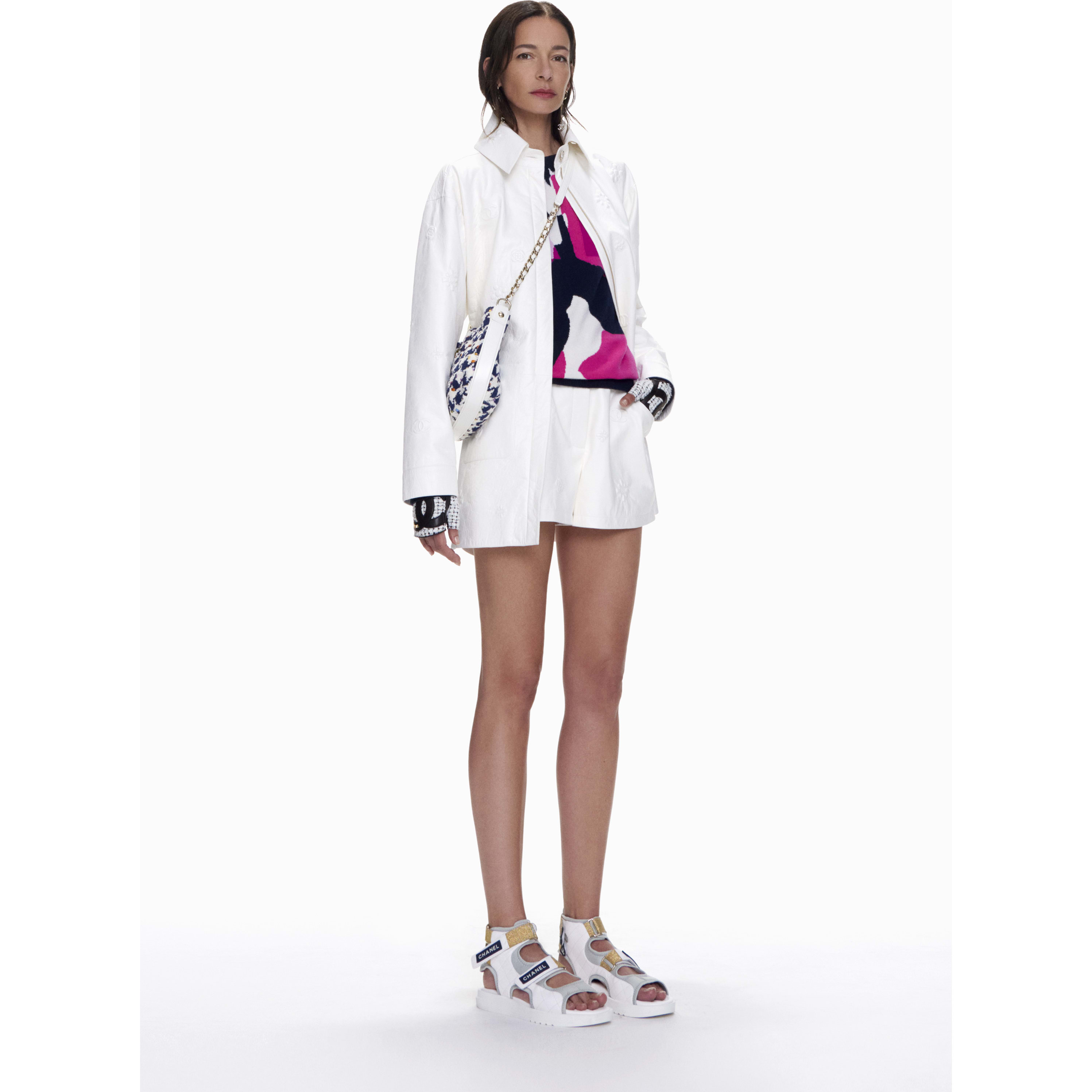 Shorts - White - Lambskin - CHANEL - Default view - see standard sized version