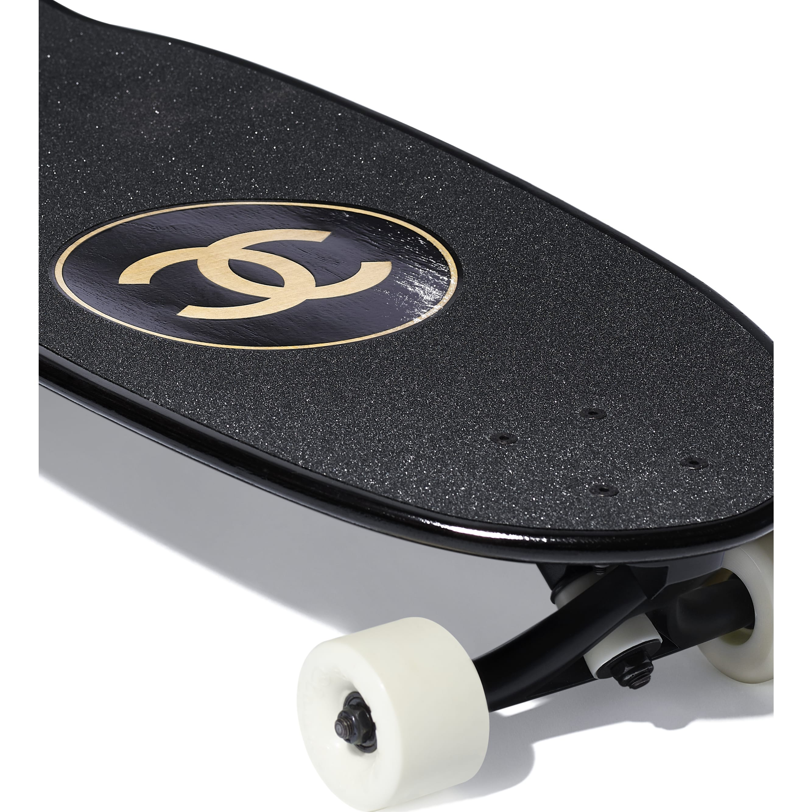 Skateboard - Black - Lacquered Wood - Other view - see standard sized version