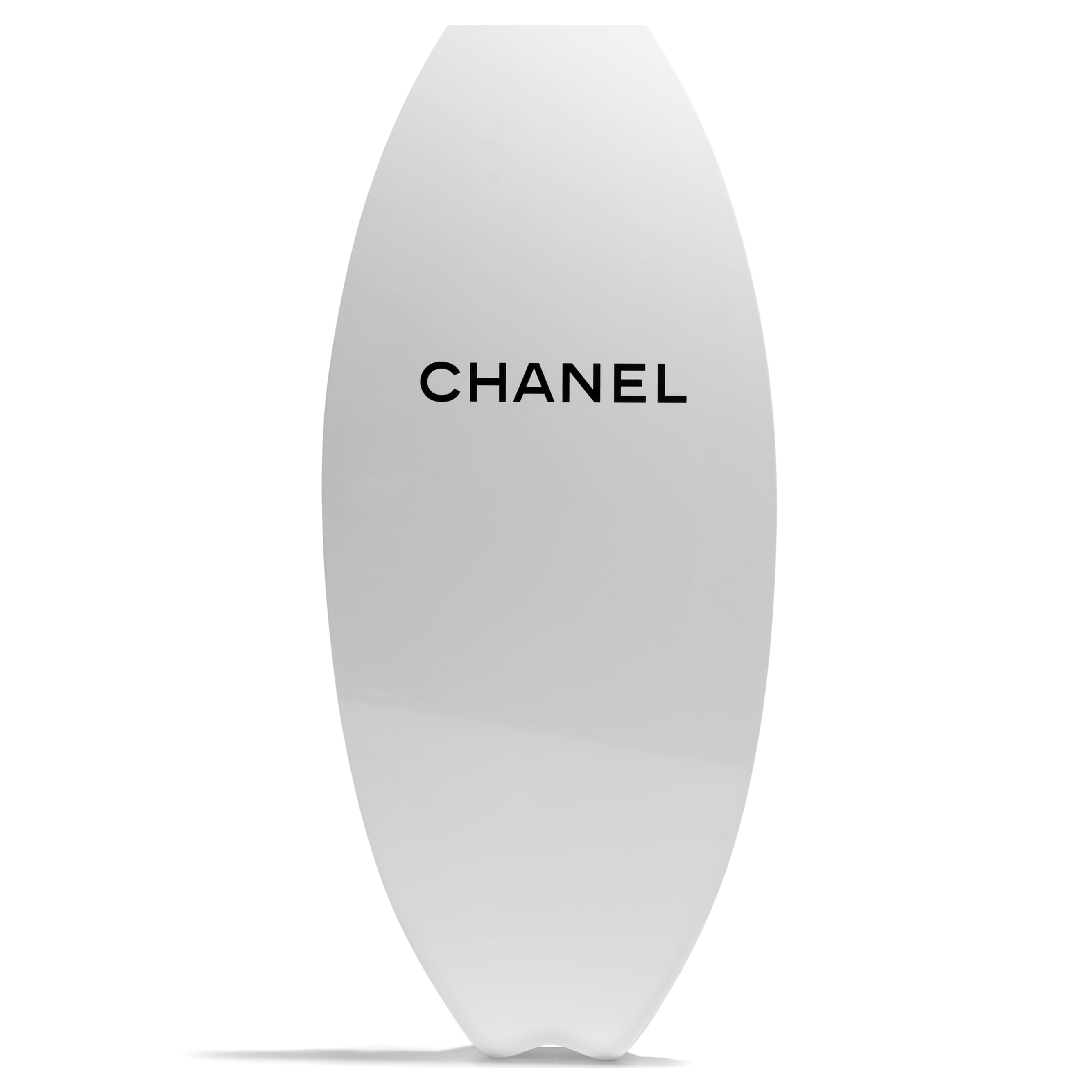 Skimboard - White & Black - Fiberglass & Resin - CHANEL - Alternative view - see standard sized version