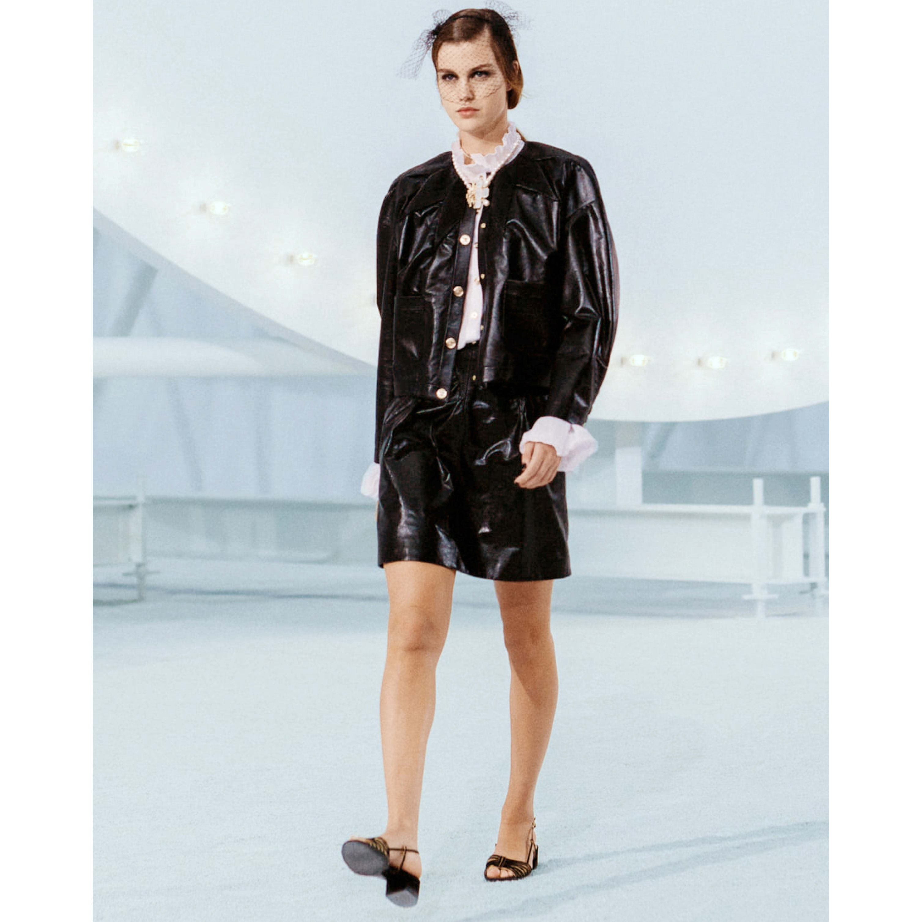 Skirt - Black - Lambskin - CHANEL - Default view - see standard sized version