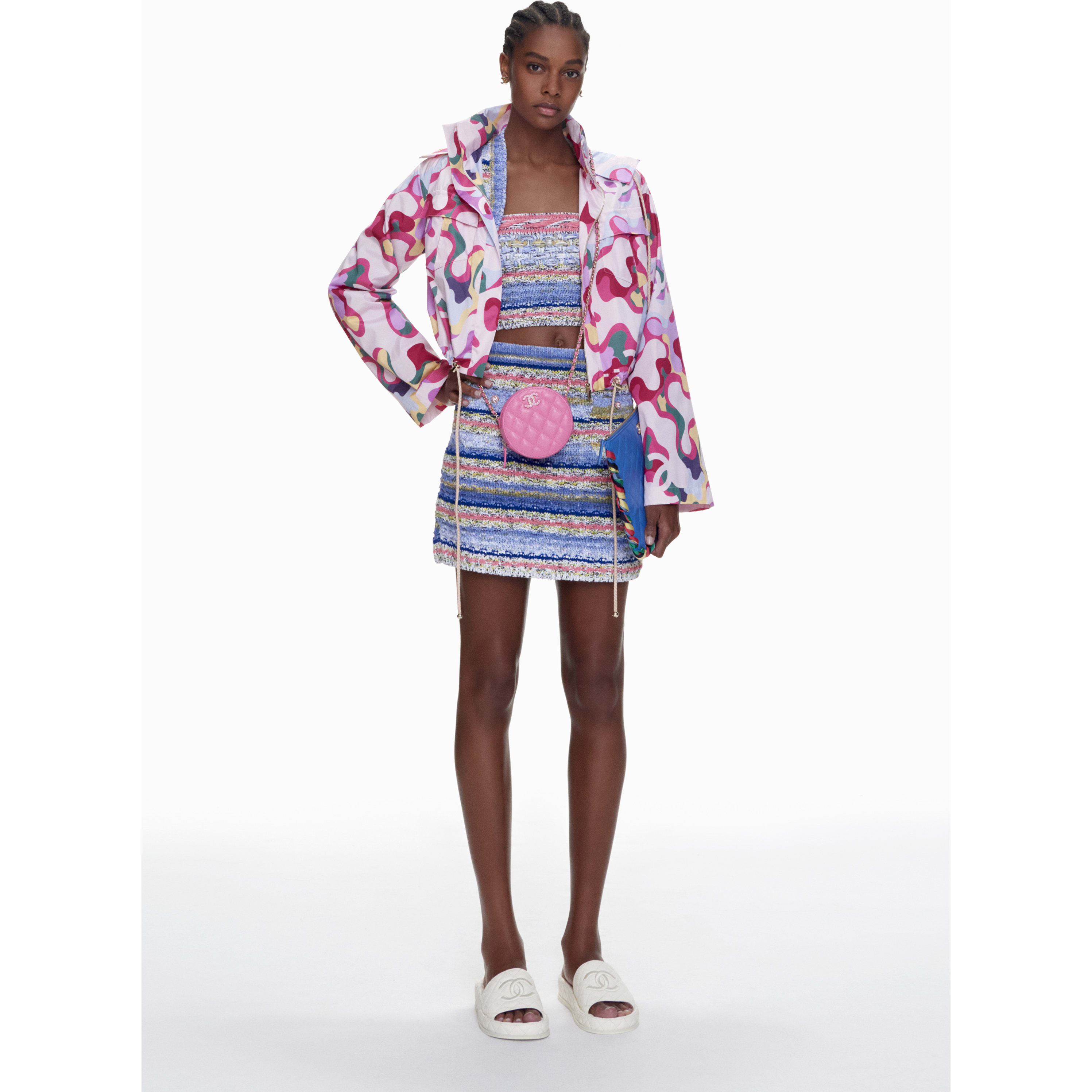 Skirt - Blue, Pink & Yellow - Cotton & Mixed Fibres - CHANEL - Default view - see standard sized version