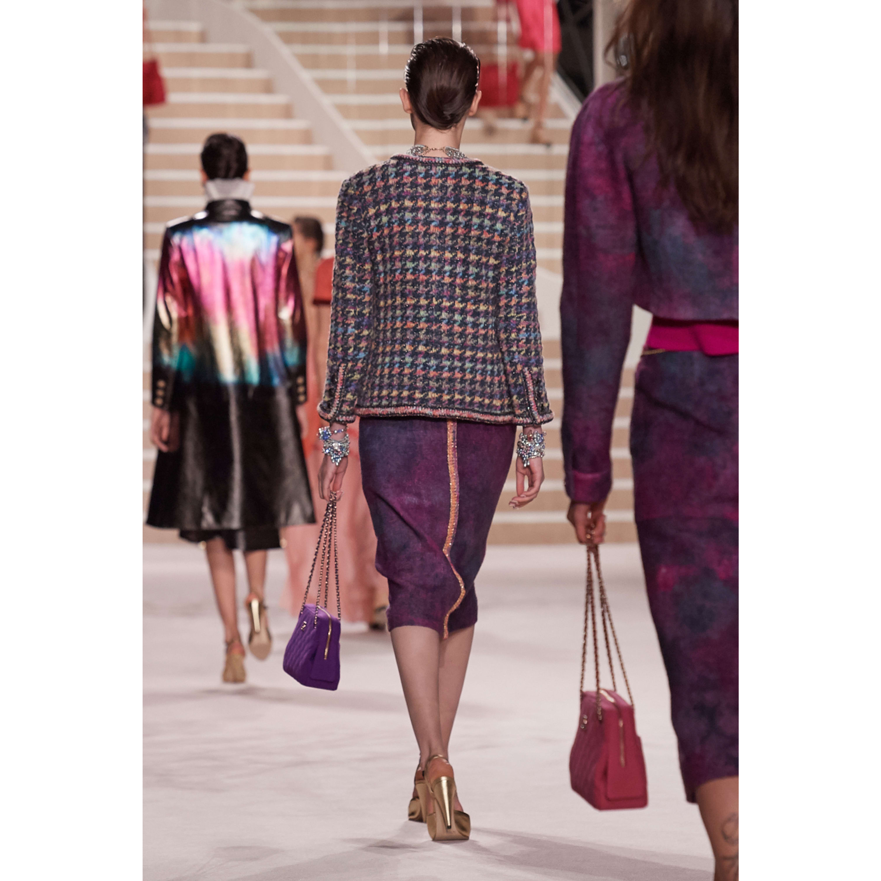 Skirt - Purple & Pink - Wool Tweed - CHANEL - Alternative view - see standard sized version