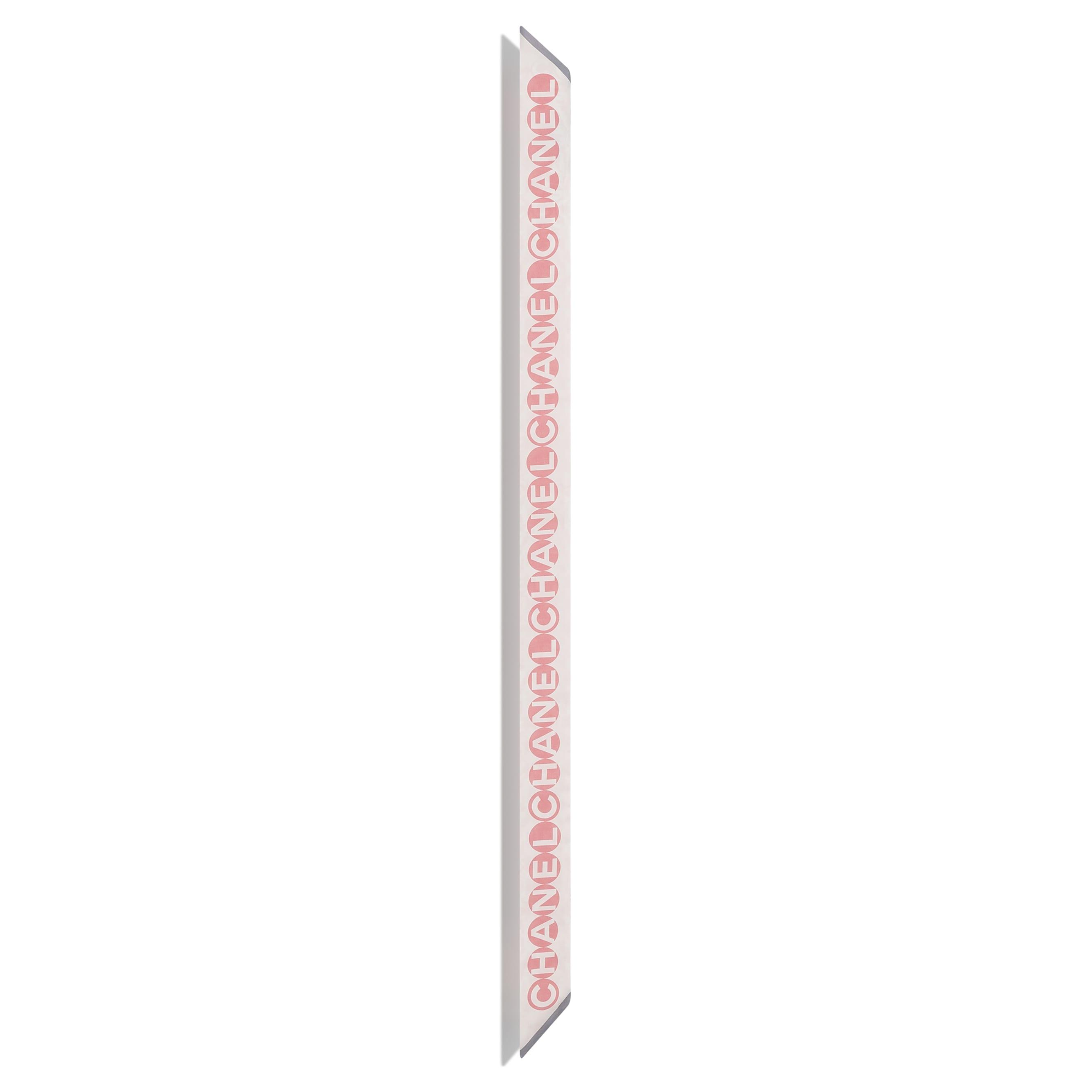 Бандо - Розовый и серый - Шелковый твид - CHANEL - Альтернативный вид - посмотреть изображение стандартного размера