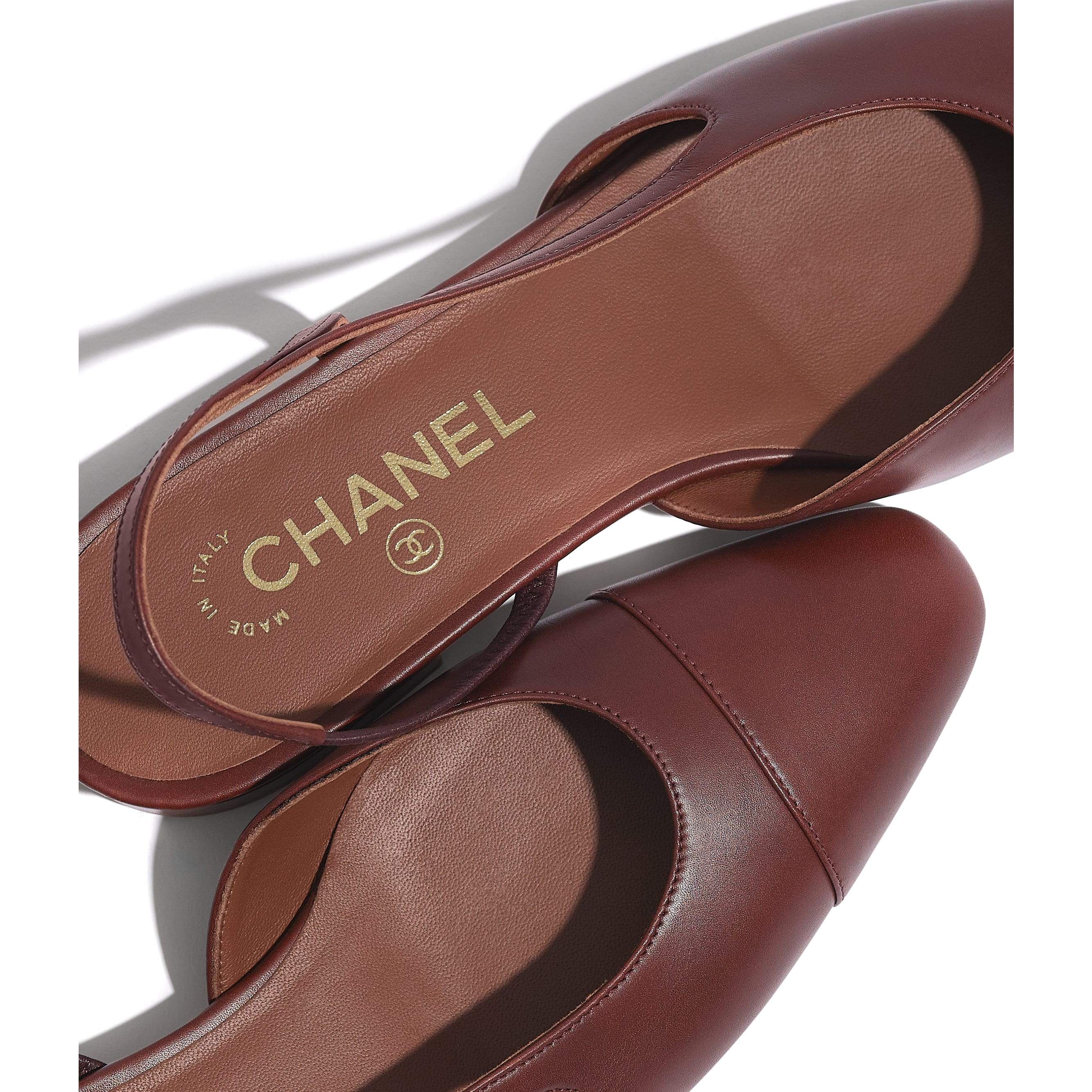 Sling-Back - Brown - Calfskin - CHANEL - Extra view - see standard sized version