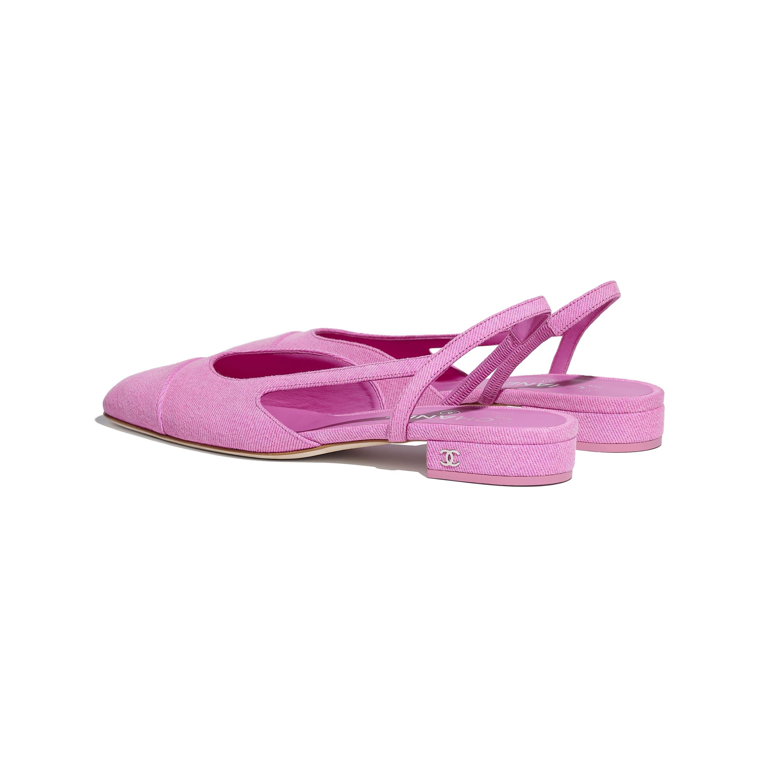 Sandálias - Neon Pink - Jeans - CHANEL - Outra vista - ver a versão em tamanho standard