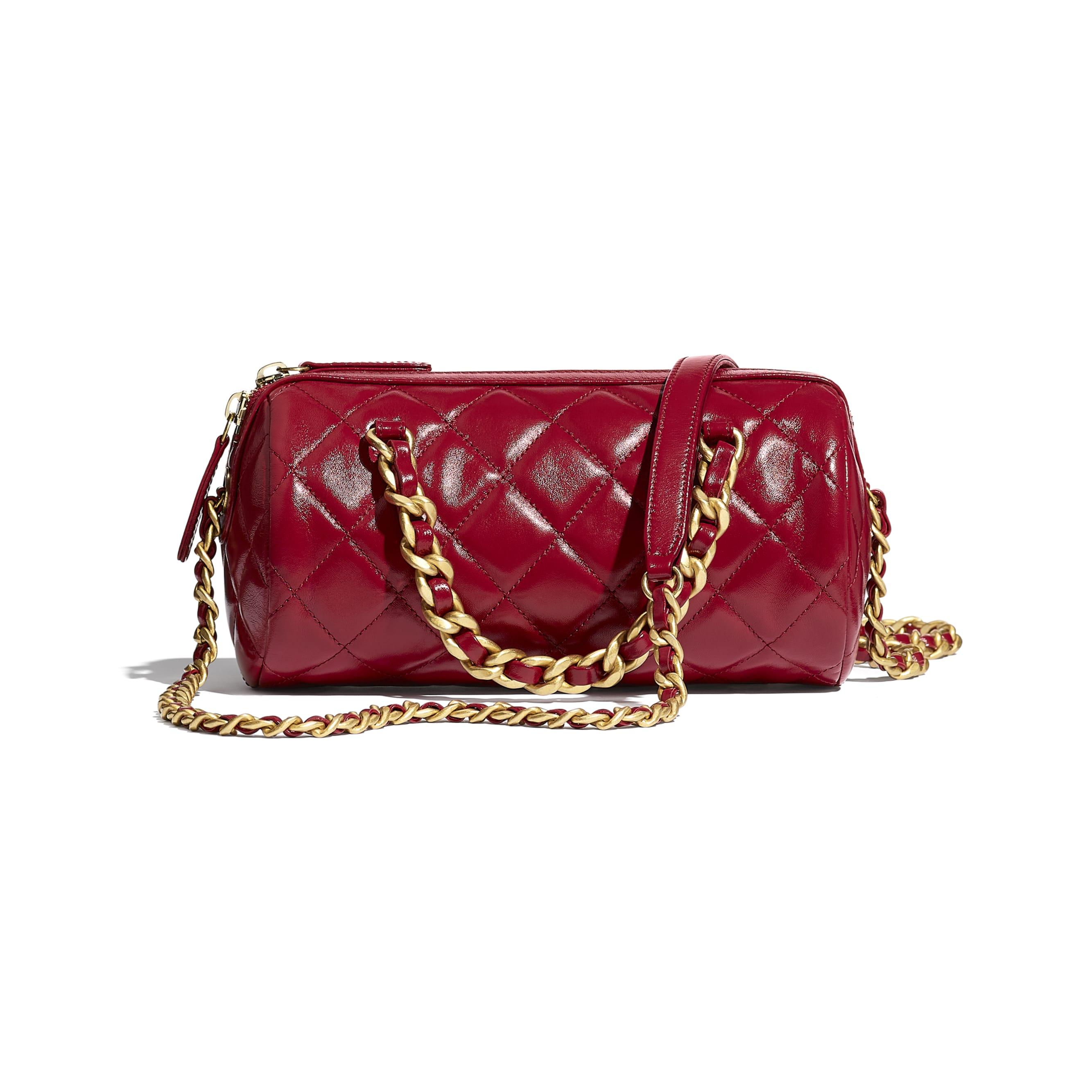Petit sac bowling - Rose - Agneau brillant & métal doré - CHANEL - Vue alternative - voir la version taille standard
