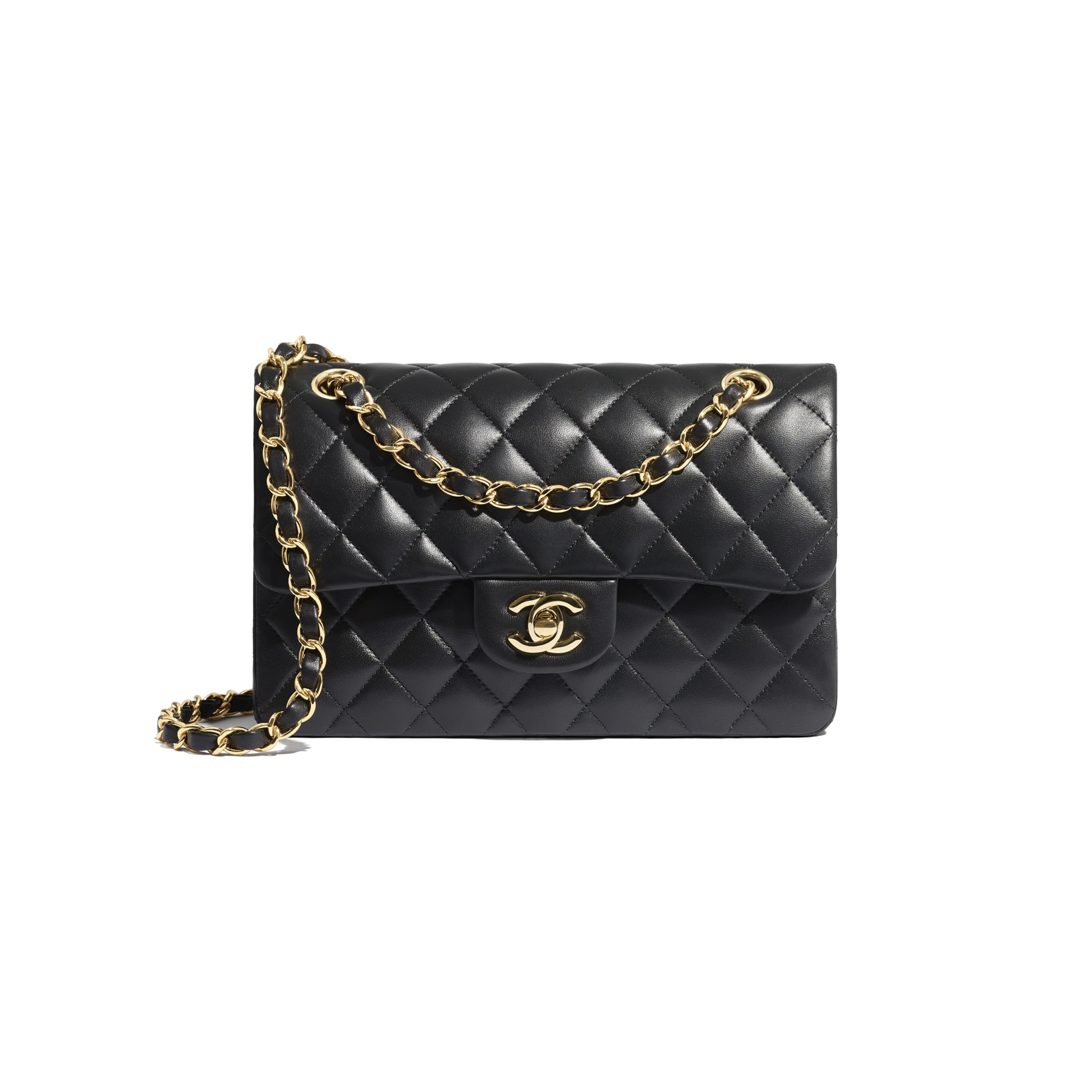 Small Classic Handbag - Black - Lambskin - CHANEL - Default view - see standard sized version
