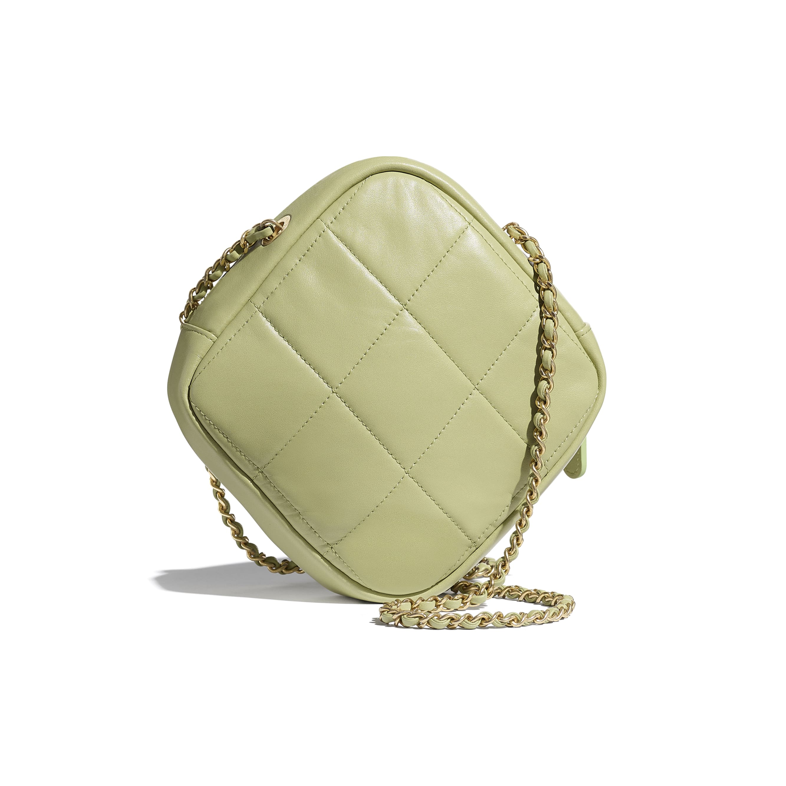 Small Diamond Bag - Green - Lambskin - CHANEL - Alternative view - see standard sized version