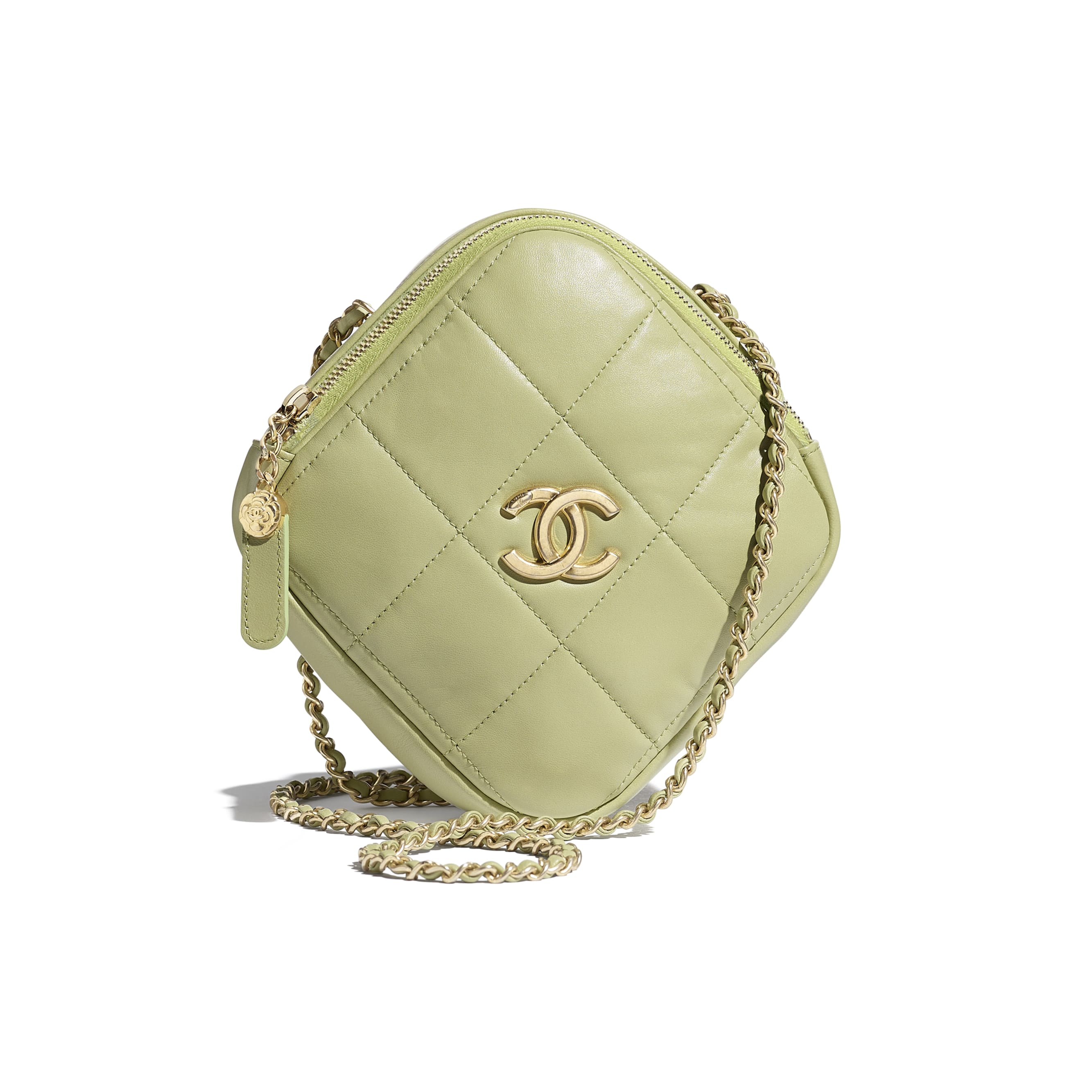 Small Diamond Bag - Green - Lambskin - CHANEL - Default view - see standard sized version