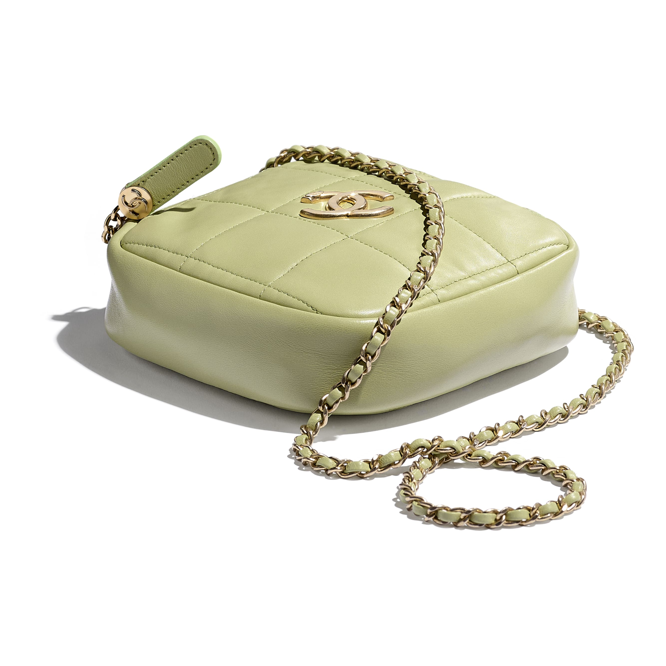 Small Diamond Bag - Green - Lambskin - CHANEL - Extra view - see standard sized version