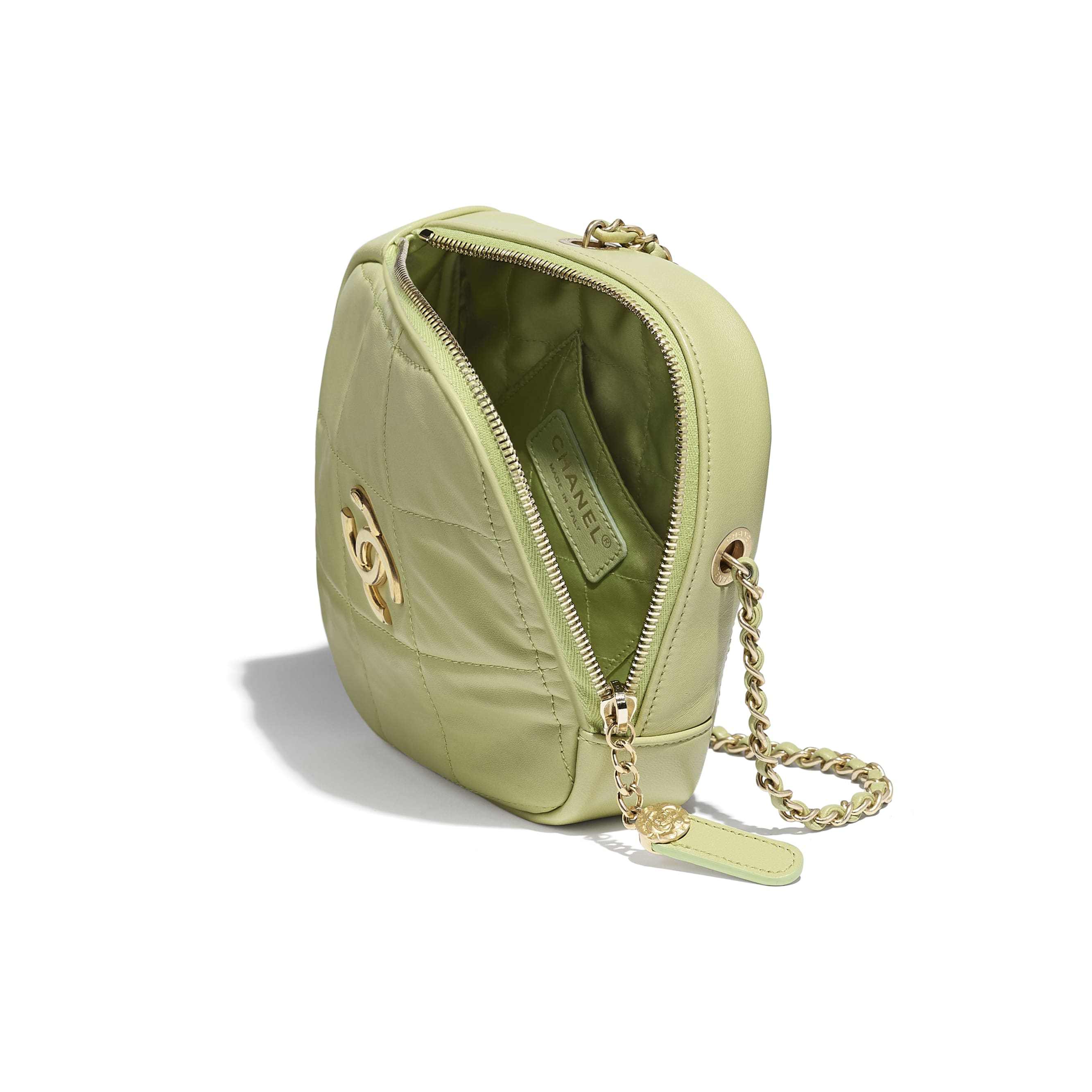 Small Diamond Bag - Green - Lambskin - CHANEL - Other view - see standard sized version