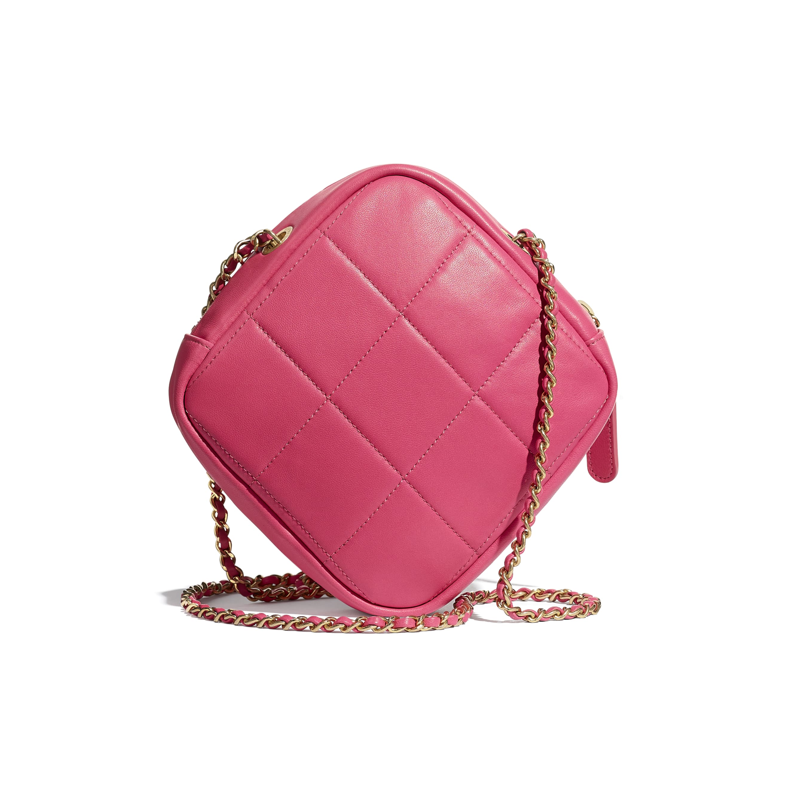 Small Diamond Bag - Pink - Lambskin - CHANEL - Alternative view - see standard sized version