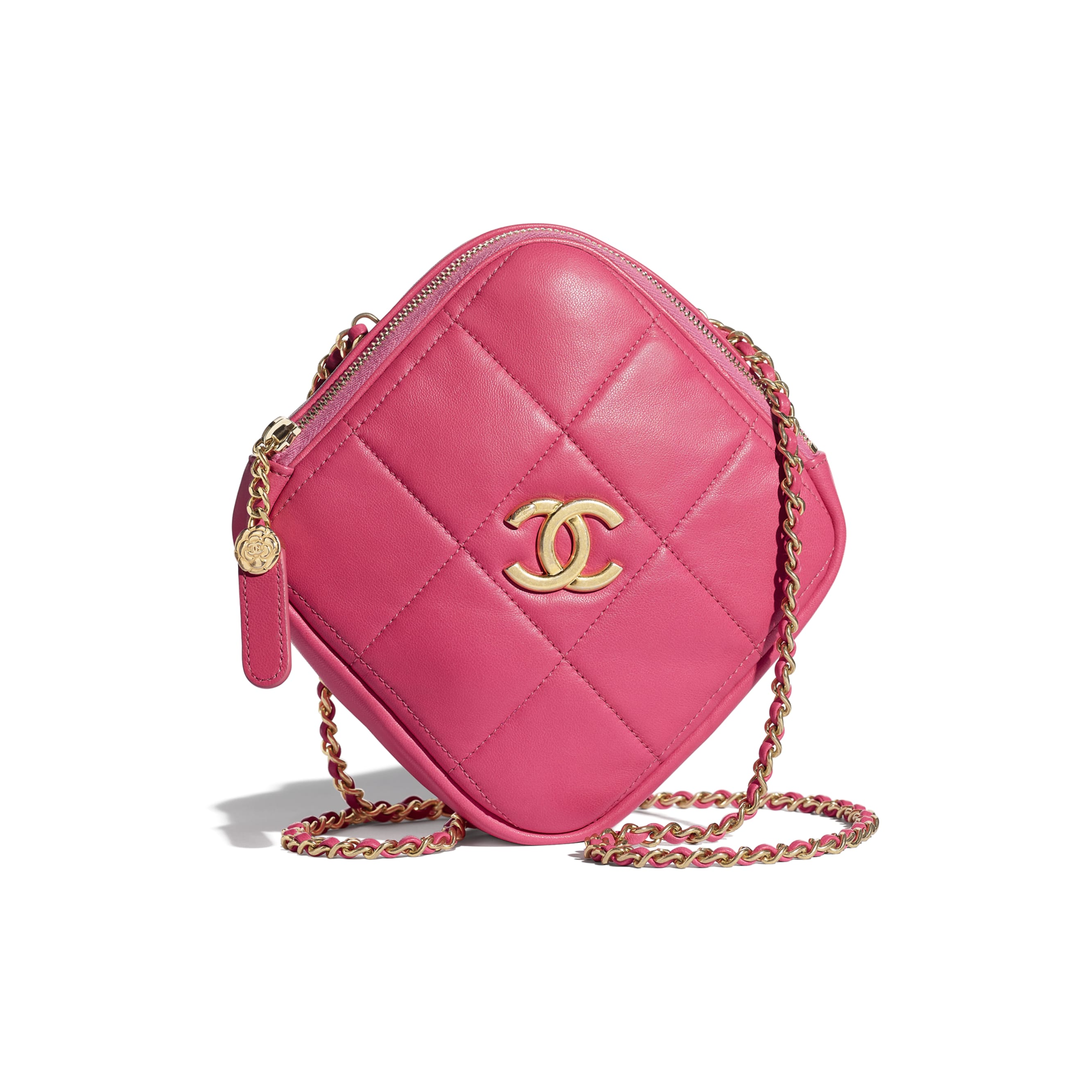 Small Diamond Bag - Pink - Lambskin - CHANEL - Default view - see standard sized version
