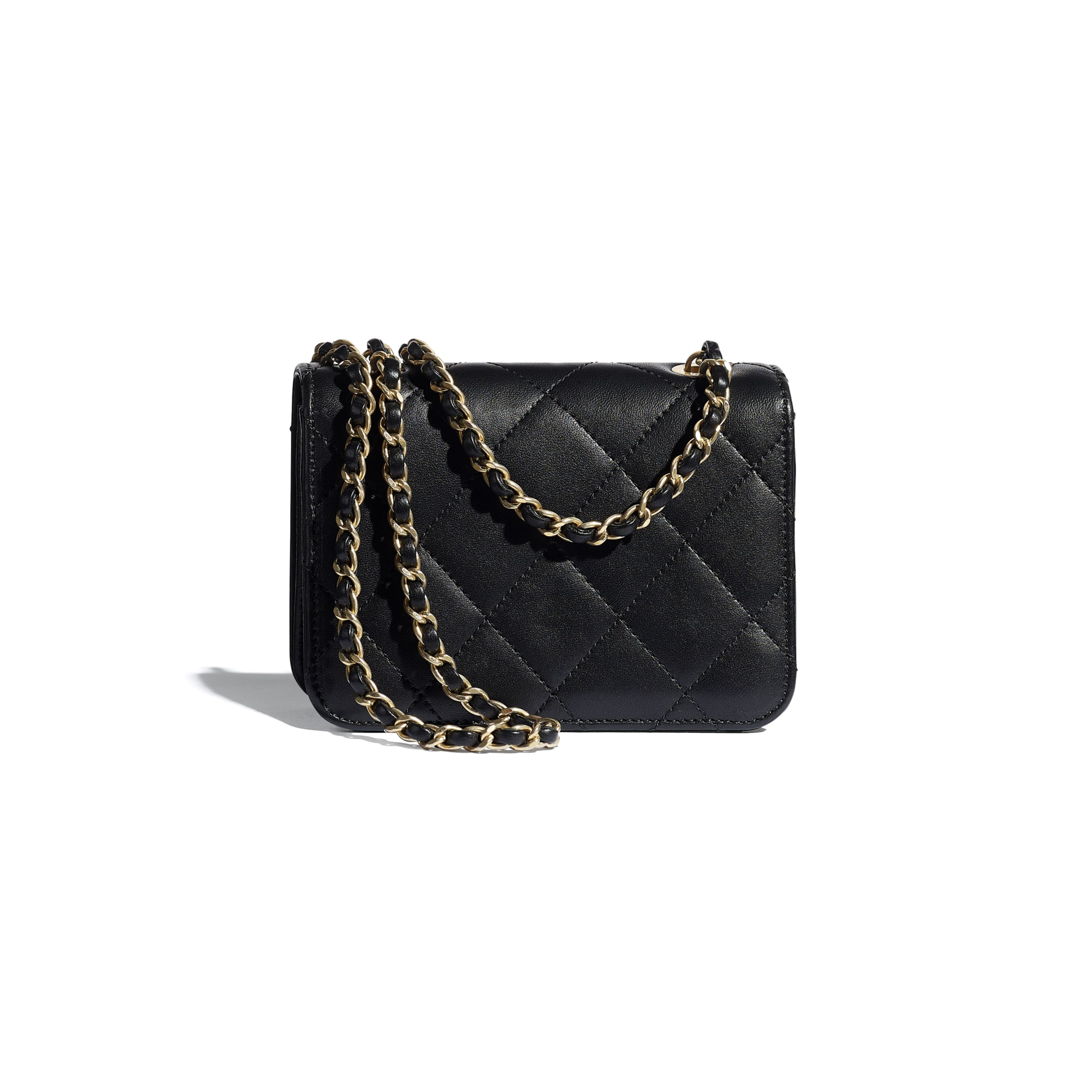Small Flap Bag - Black - Calfskin, Crystal Pearls, Resin & Gold-Tone Metal - CHANEL - Alternative view - see standard sized version