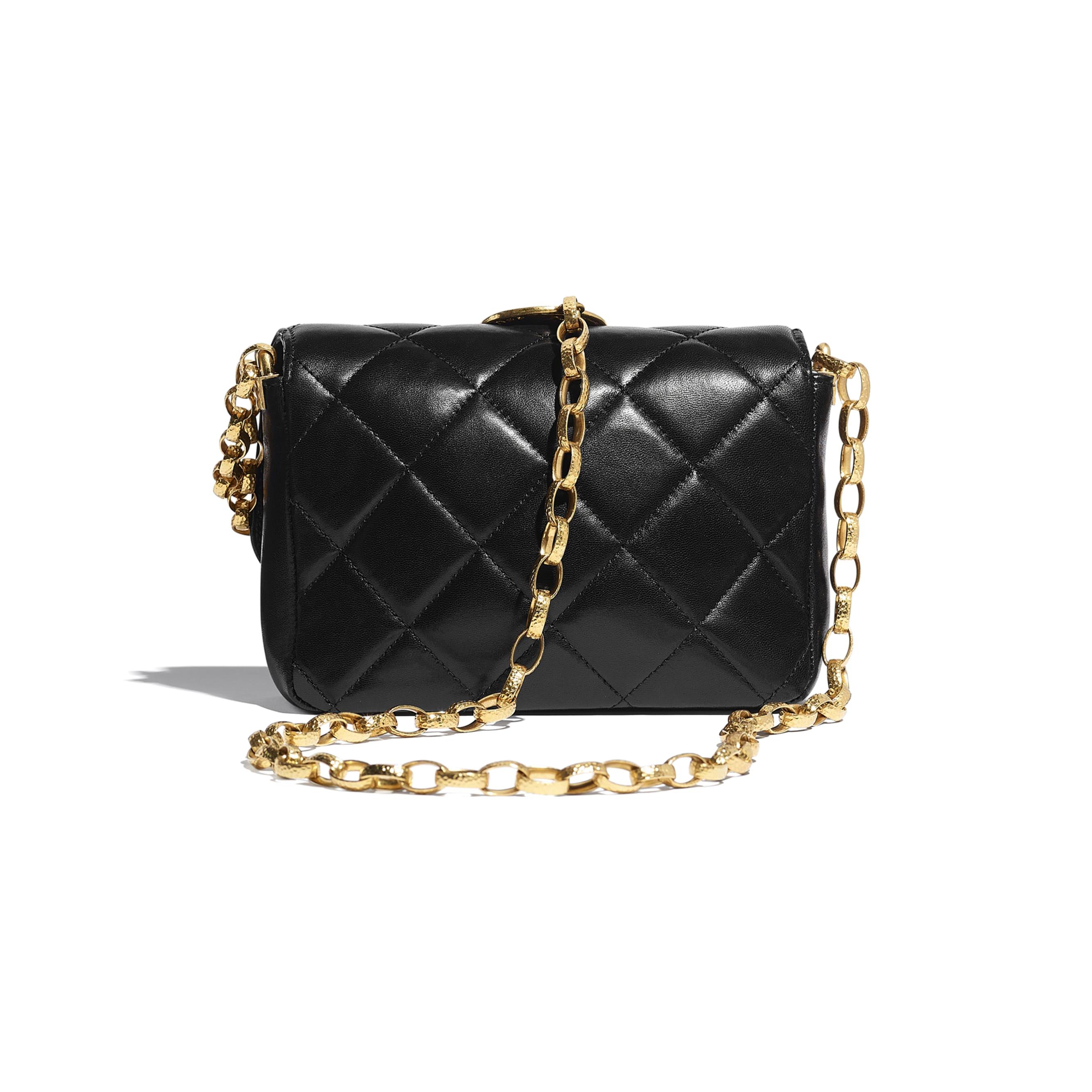 Small Flap Bag - Black - Lambskin & Gold-Tone Metal - CHANEL - Alternative view - see standard sized version