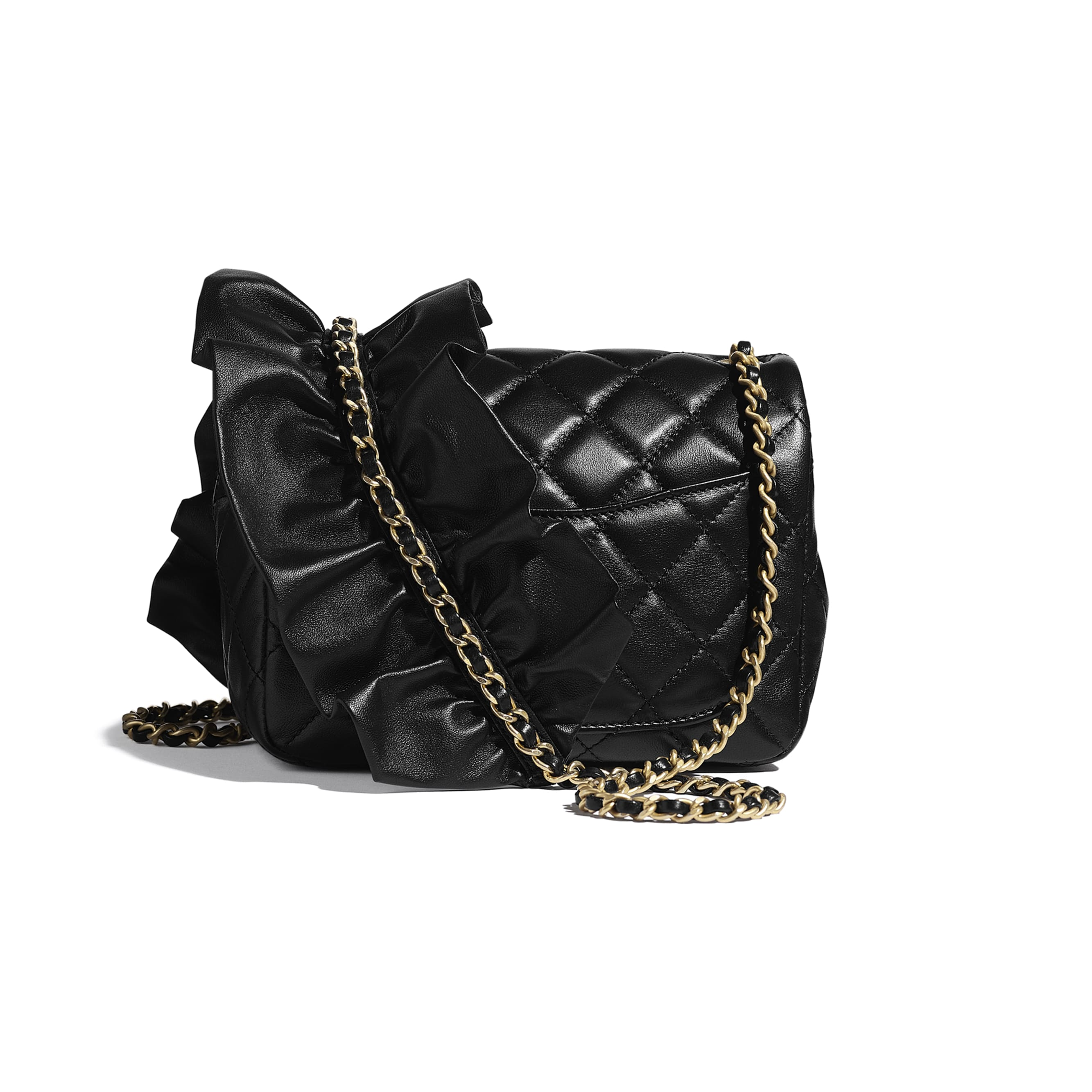 Small Flap Bag - Black - Lambskin - CHANEL - Alternative view - see standard sized version