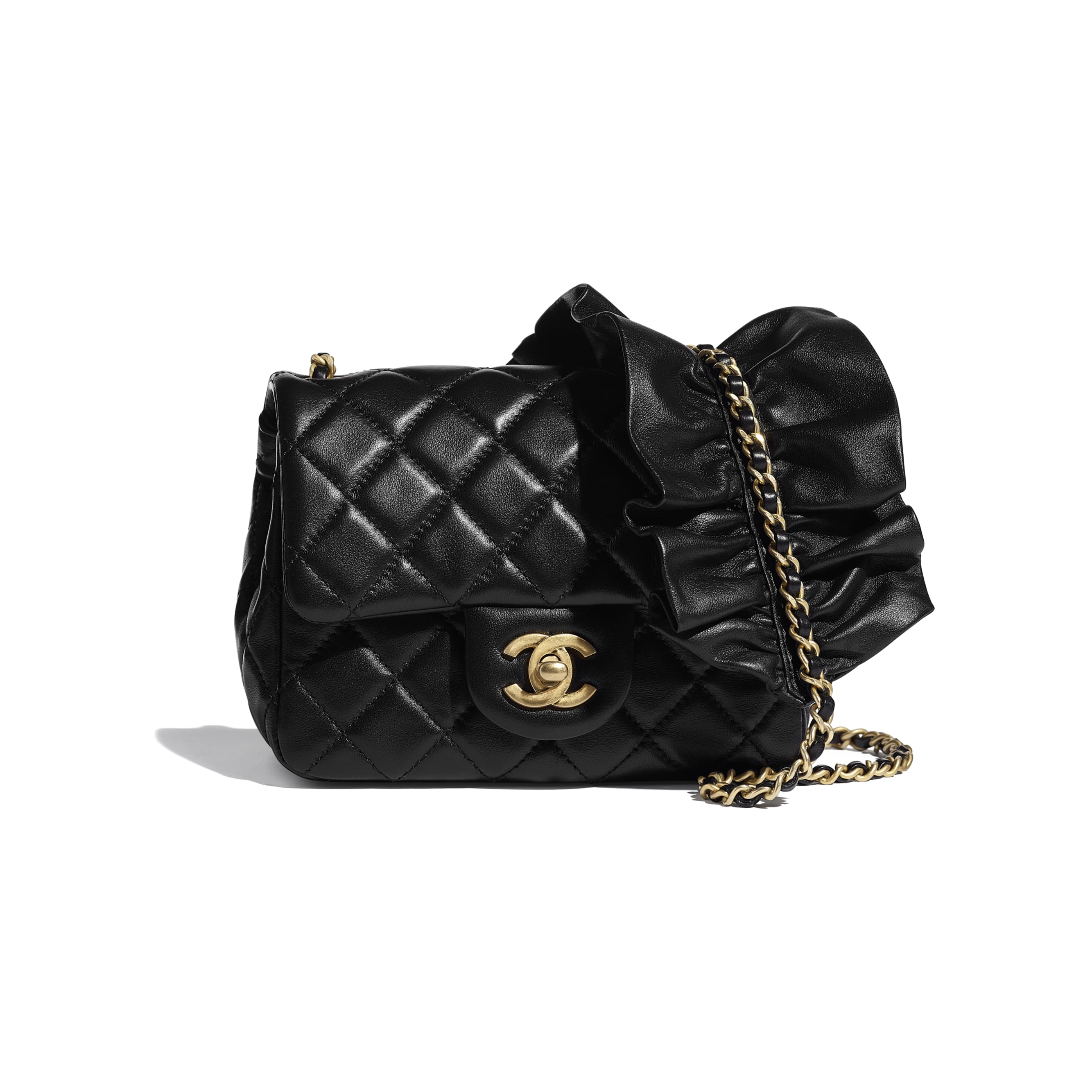 Small Flap Bag - Black - Lambskin - CHANEL - Default view - see standard sized version