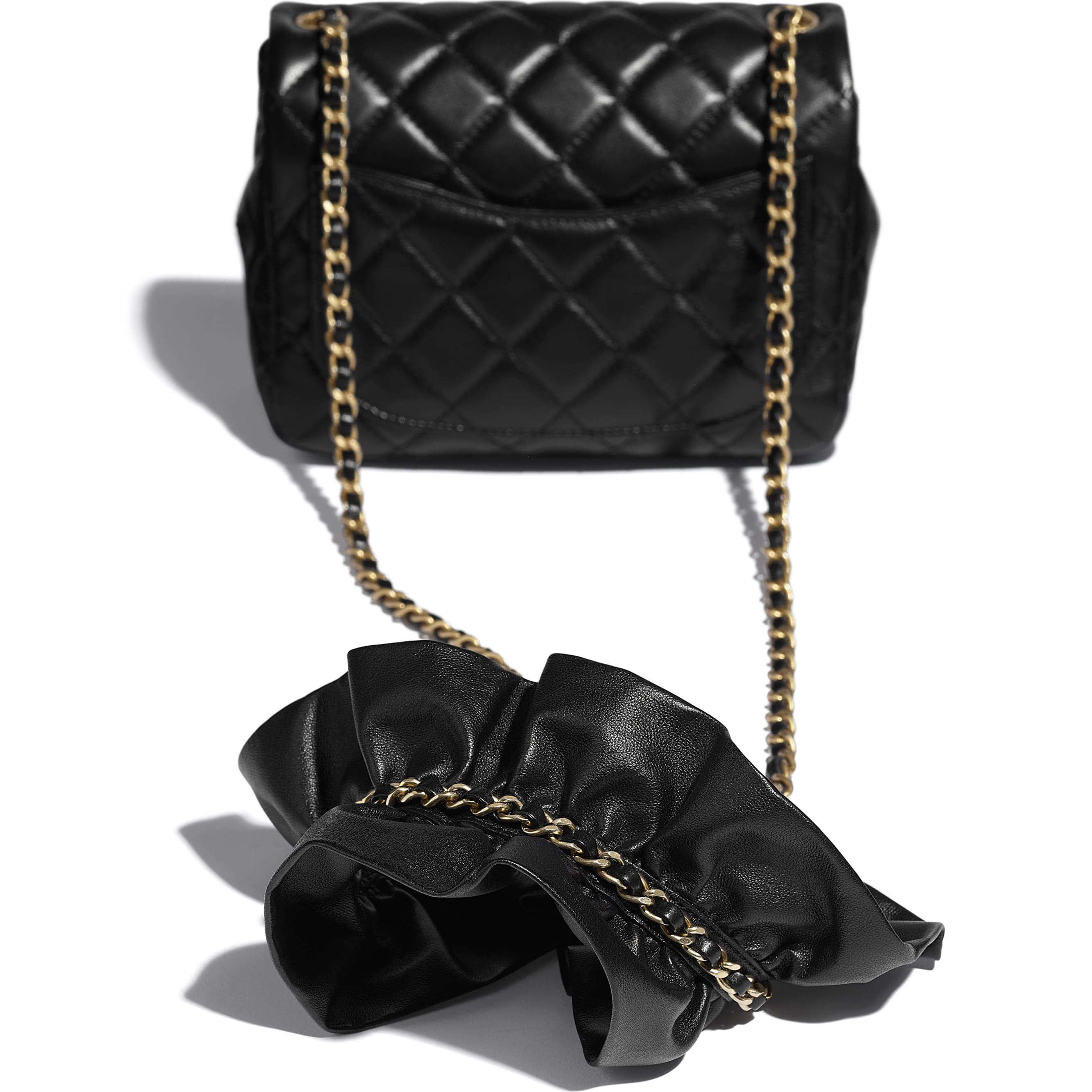 Small Flap Bag - Black - Lambskin - CHANEL - Extra view - see standard sized version