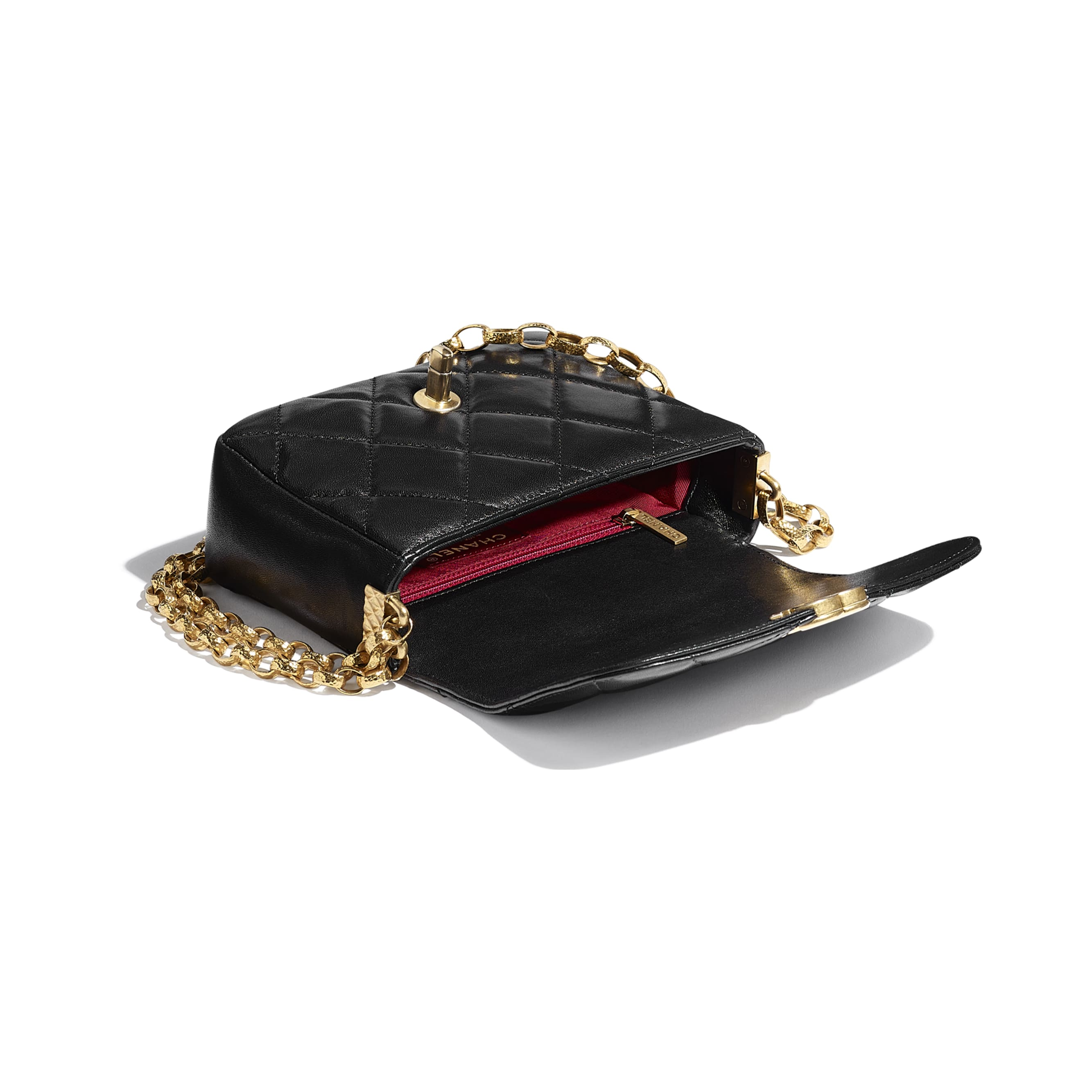 Small Flap Bag - Black - Lambskin & Gold-Tone Metal - CHANEL - Other view - see standard sized version