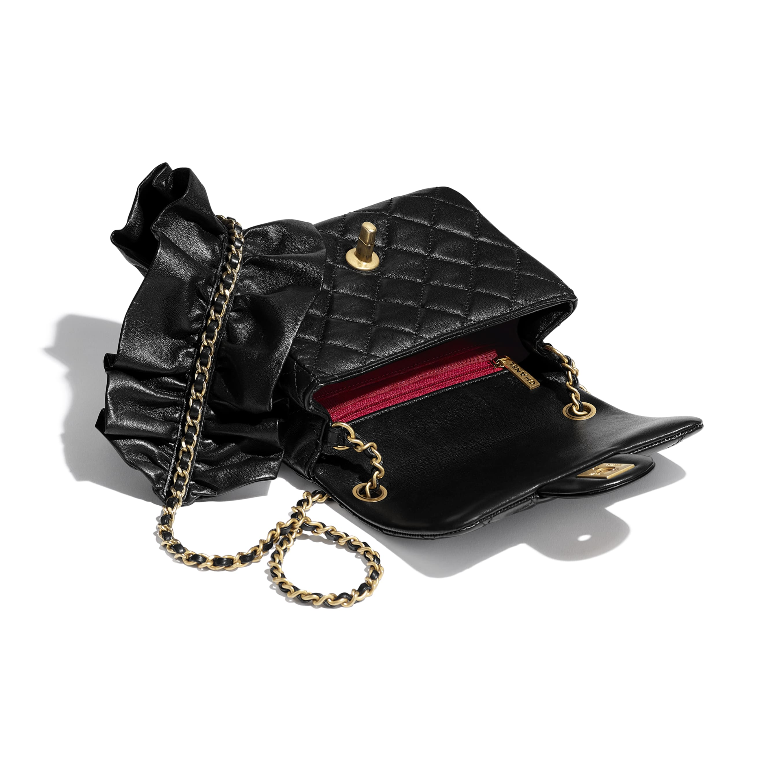 Small Flap Bag - Black - Lambskin - CHANEL - Other view - see standard sized version