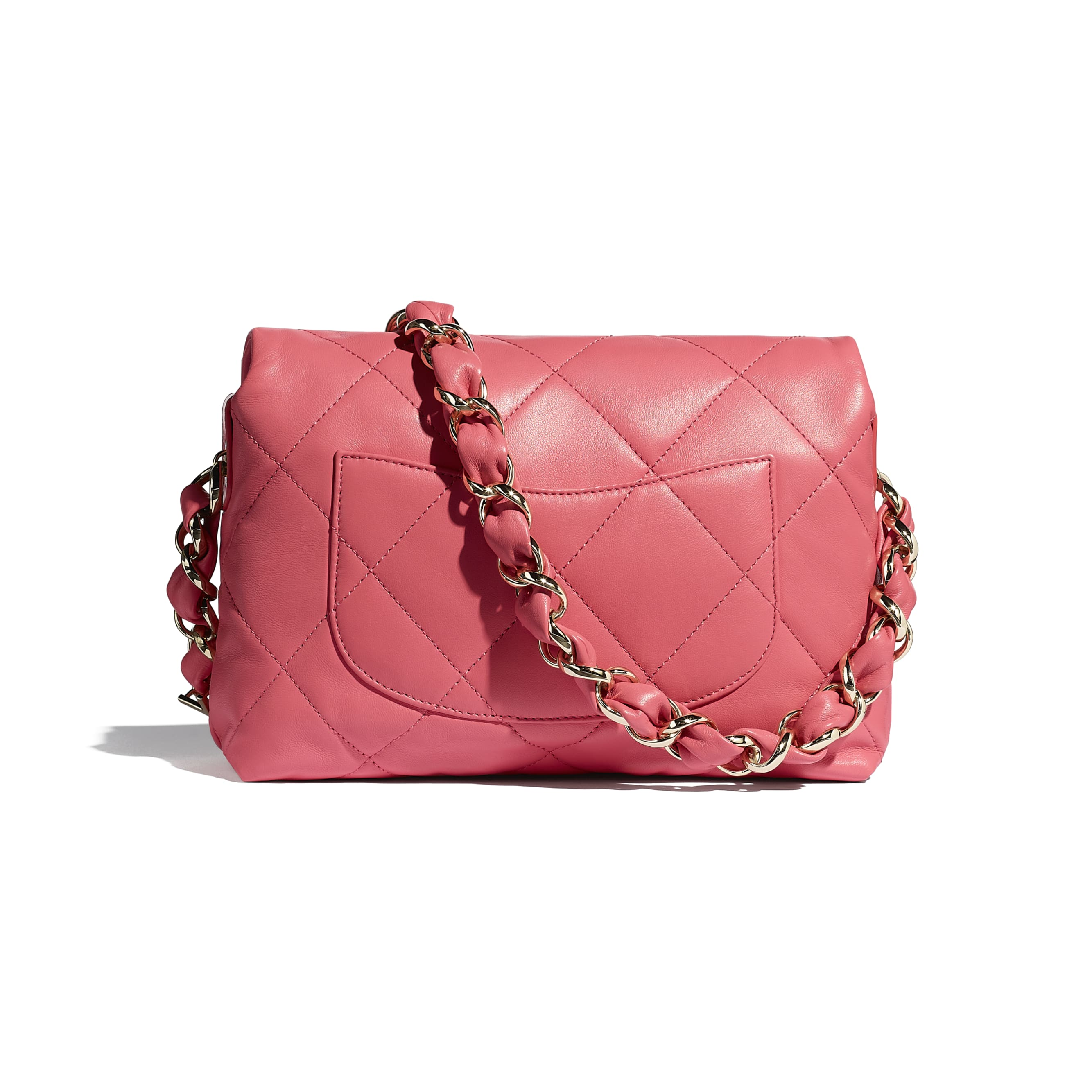 Small Flap Bag - Coral - Lambskin - CHANEL - Alternative view - see standard sized version