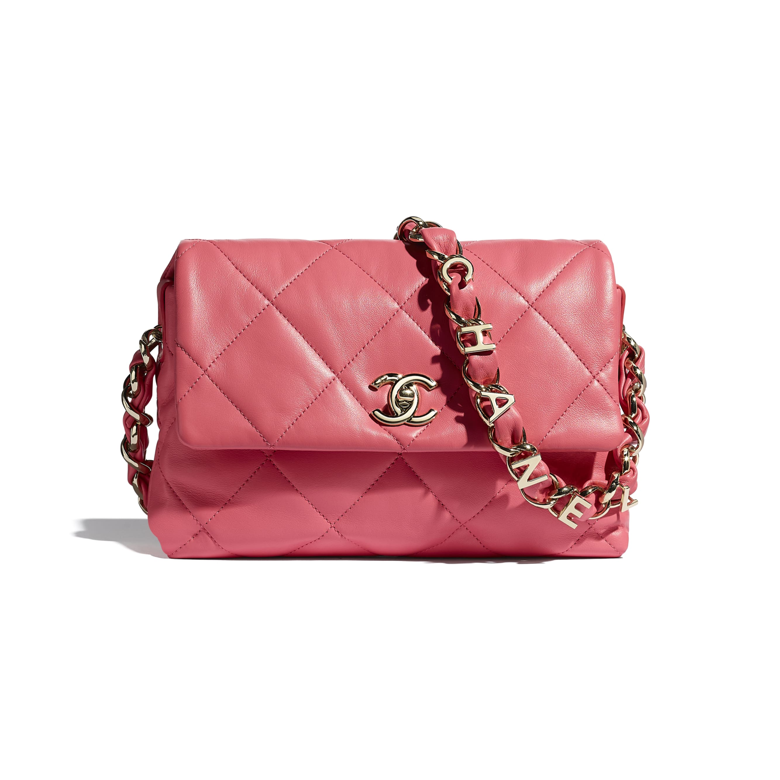 Small Flap Bag - Coral - Lambskin - CHANEL - Default view - see standard sized version