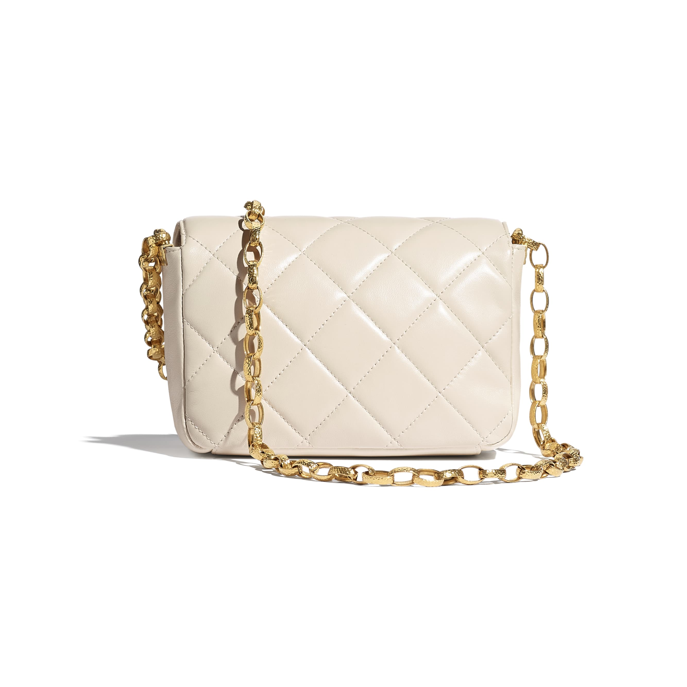 Small Flap Bag - Ecru - Lambskin - CHANEL - Alternative view - see standard sized version