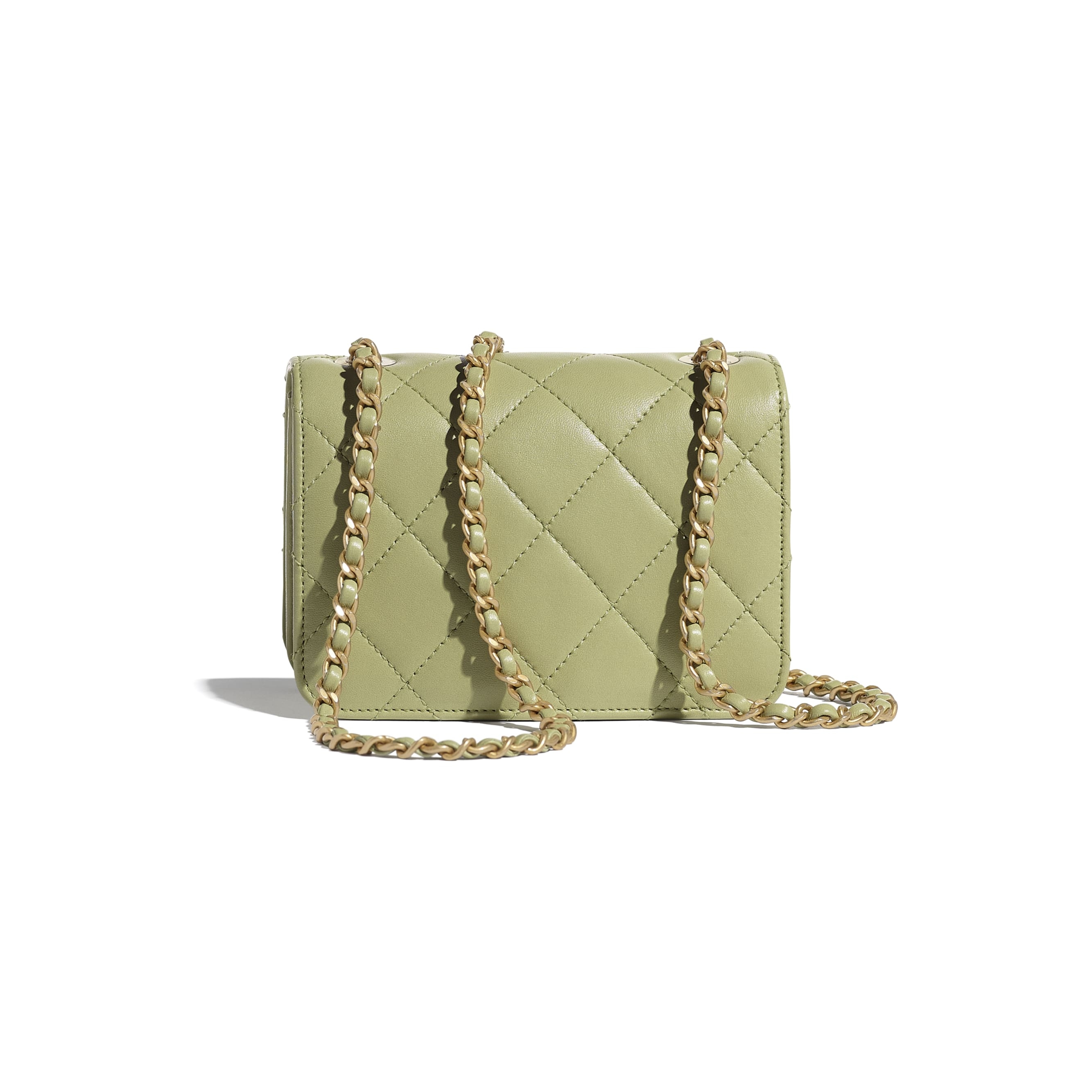 Small Flap Bag - Green - Calfskin, Crystal Pearls, Resin & Gold-Tone Metal - CHANEL - Alternative view - see standard sized version