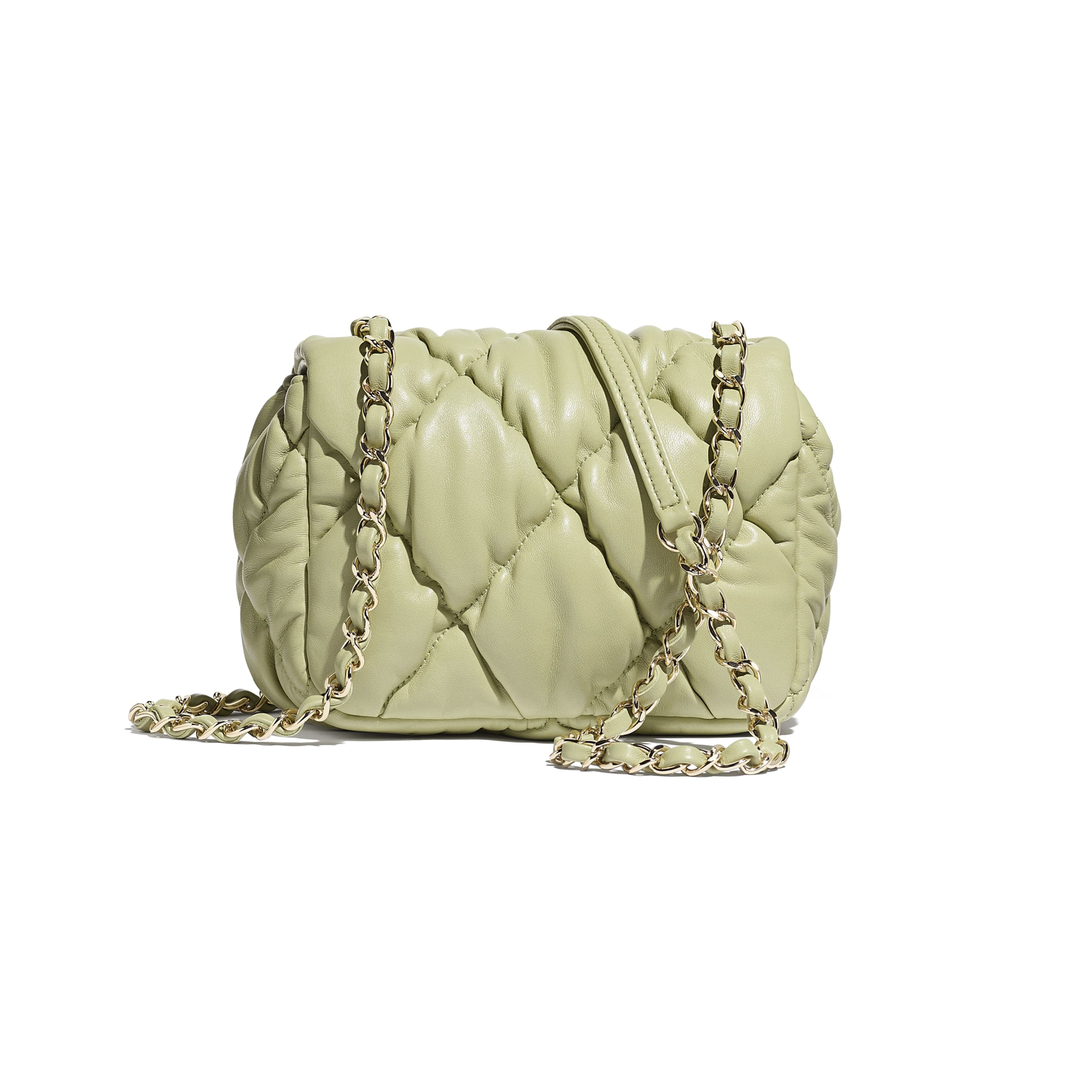 Small Flap Bag - Green - Calfskin & Gold-Tone Metal - CHANEL - Alternative view - see standard sized version