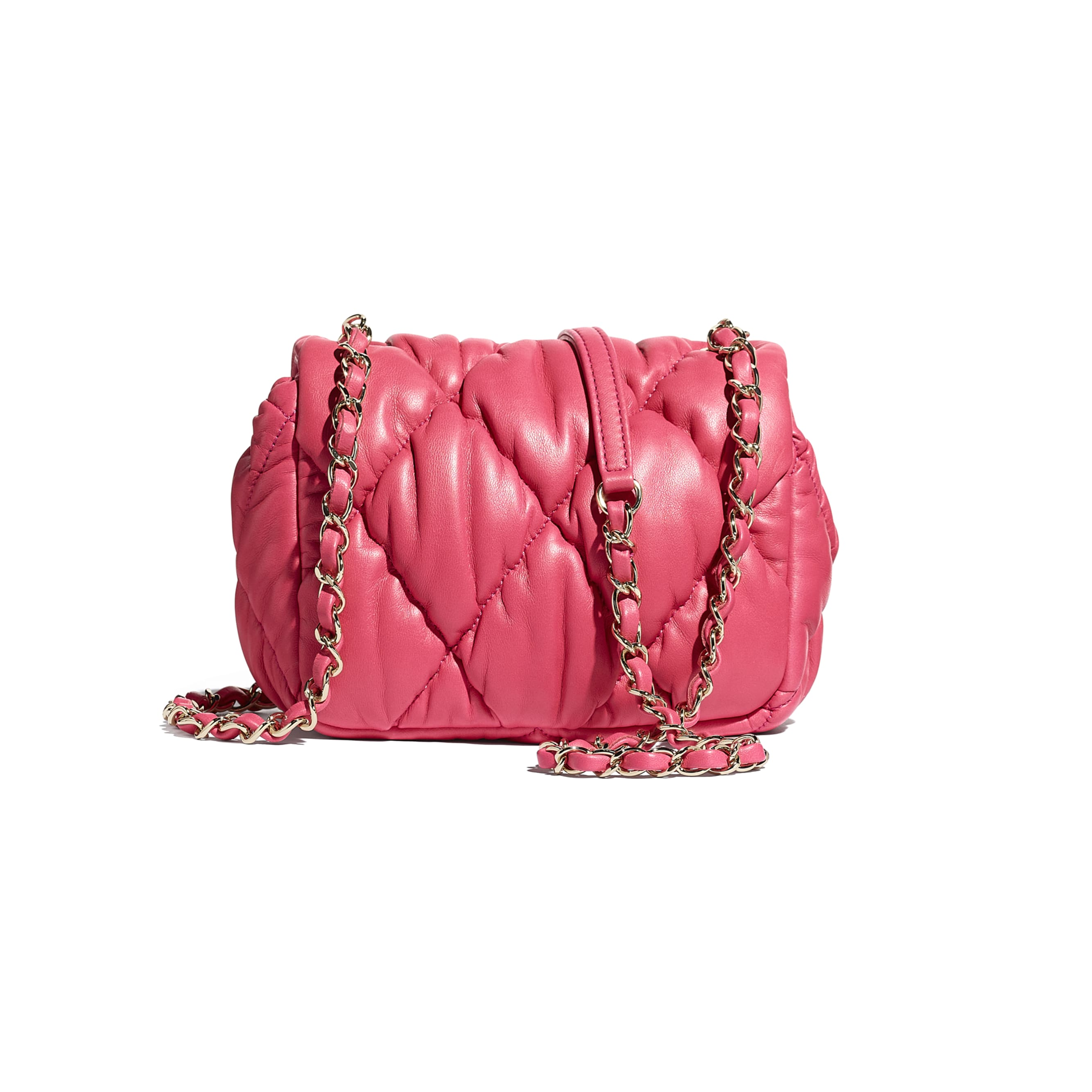 Small Flap Bag - Pink - Calfskin & Gold-Tone Metal - CHANEL - Alternative view - see standard sized version