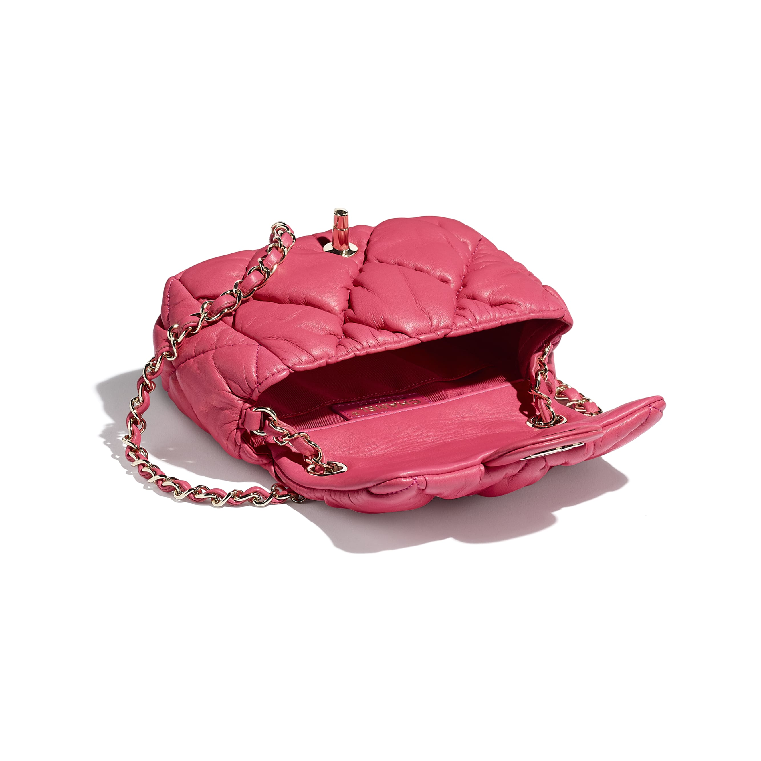 Small Flap Bag - Pink - Calfskin & Gold-Tone Metal - CHANEL - Other view - see standard sized version