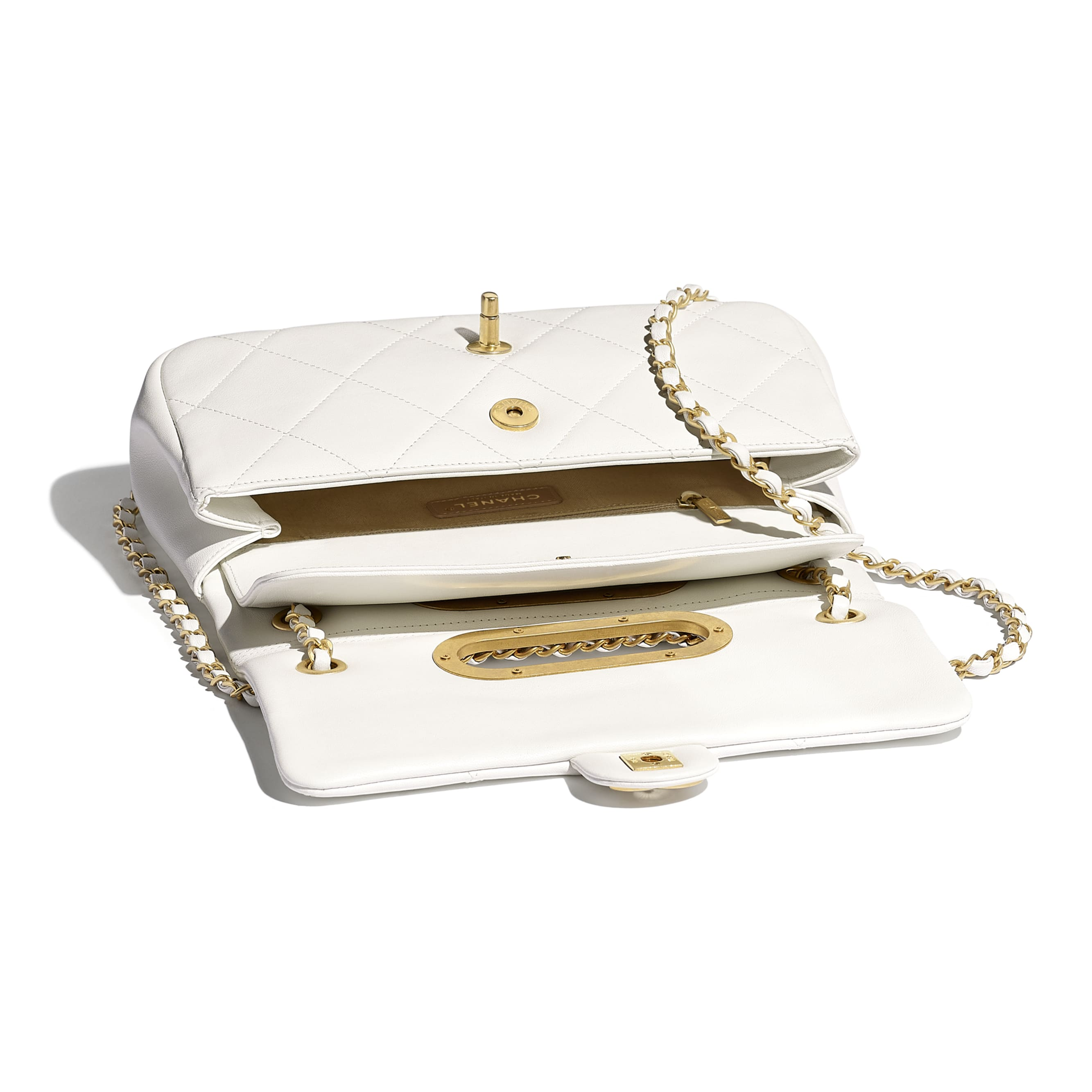 Small Flap Bag - White - Lambskin - CHANEL - Other view - see standard sized version