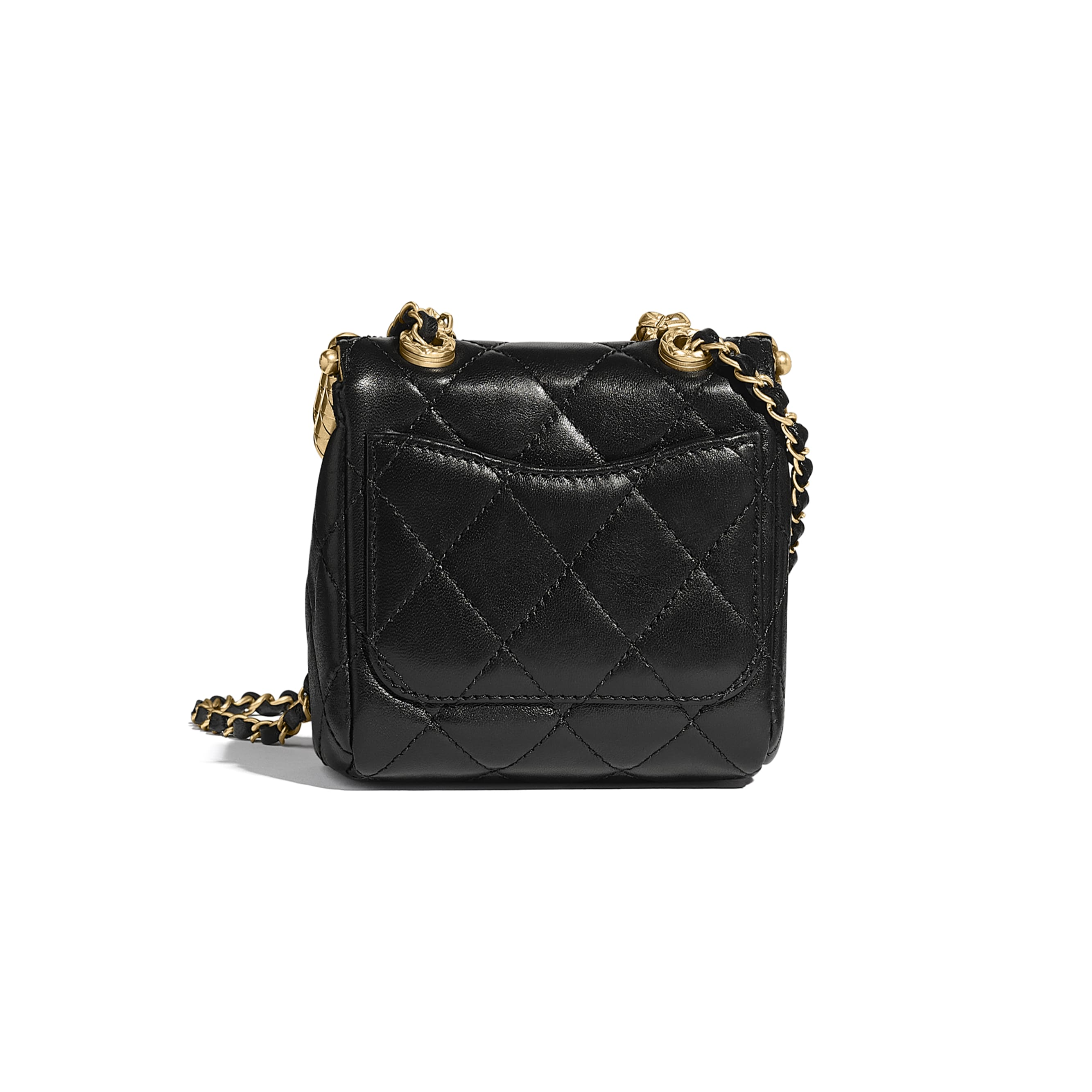 Small Kiss-Lock Bag - Black - Lambskin - CHANEL - Alternative view - see standard sized version