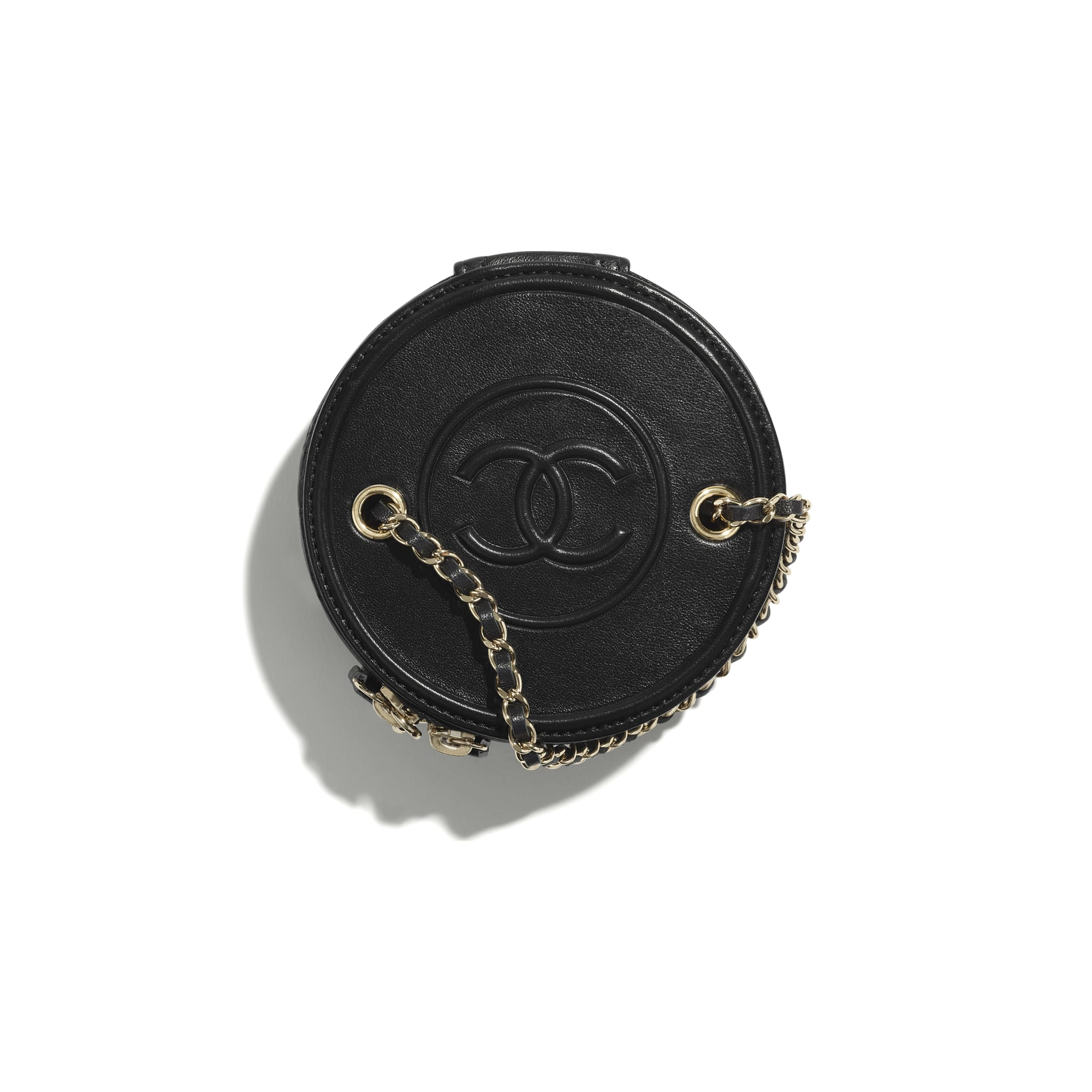 Small Vanity with Chain - Black - Lambskin - CHANEL - Alternative view - see standard sized version