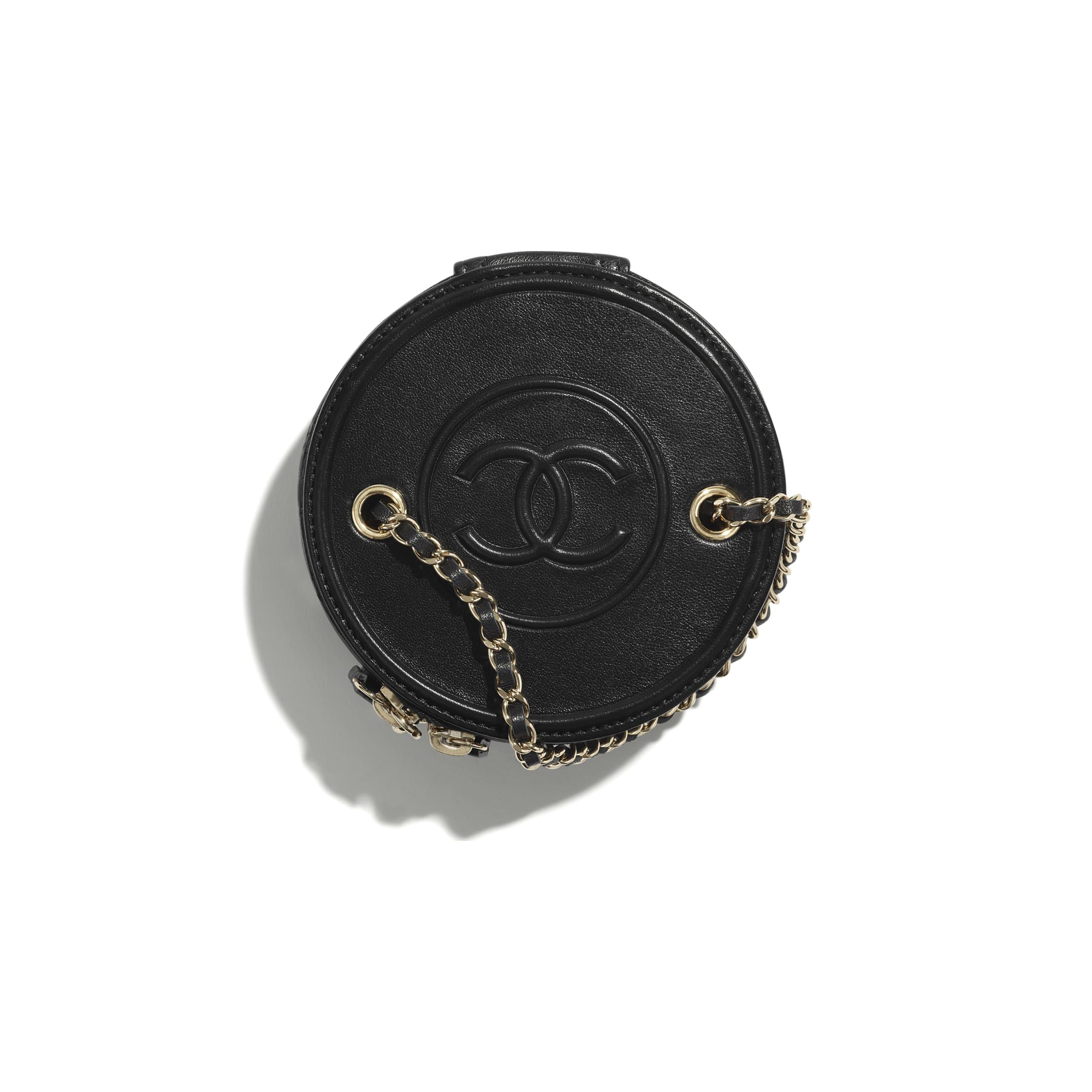 小型鍊子化妝包 - 黑 - 小羊皮與金色金屬 - CHANEL - 替代視圖 - 查看標準尺寸版本