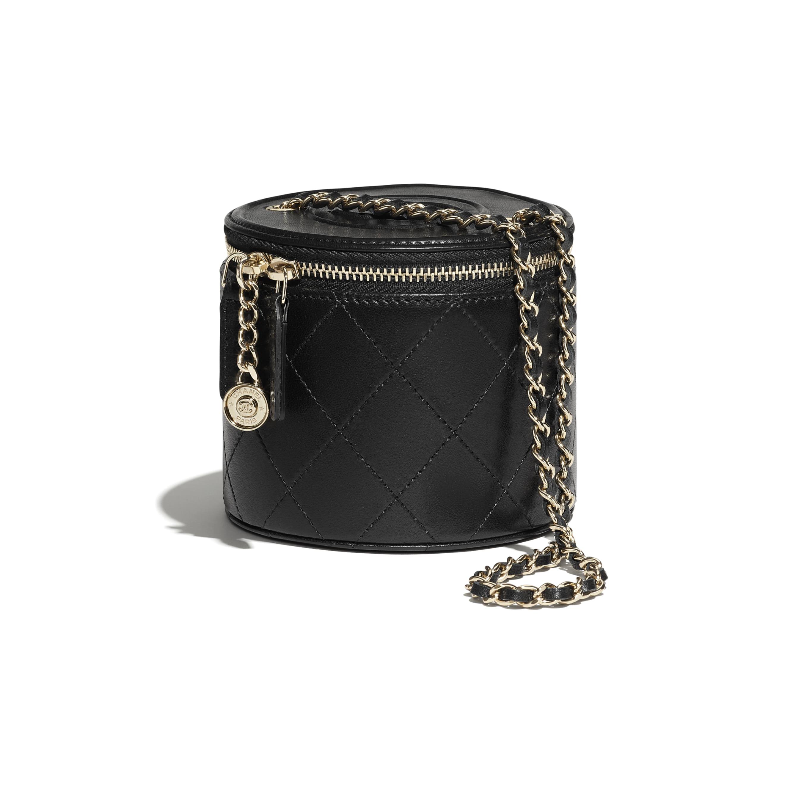 กระเป๋า Vanity ขนาดเล็ก พร้อมสายโซ่ - สีดำ - หนังแกะและโลหะสีทอง - CHANEL - มุมมองพิเศษ - ดูเวอร์ชันขนาดมาตรฐาน