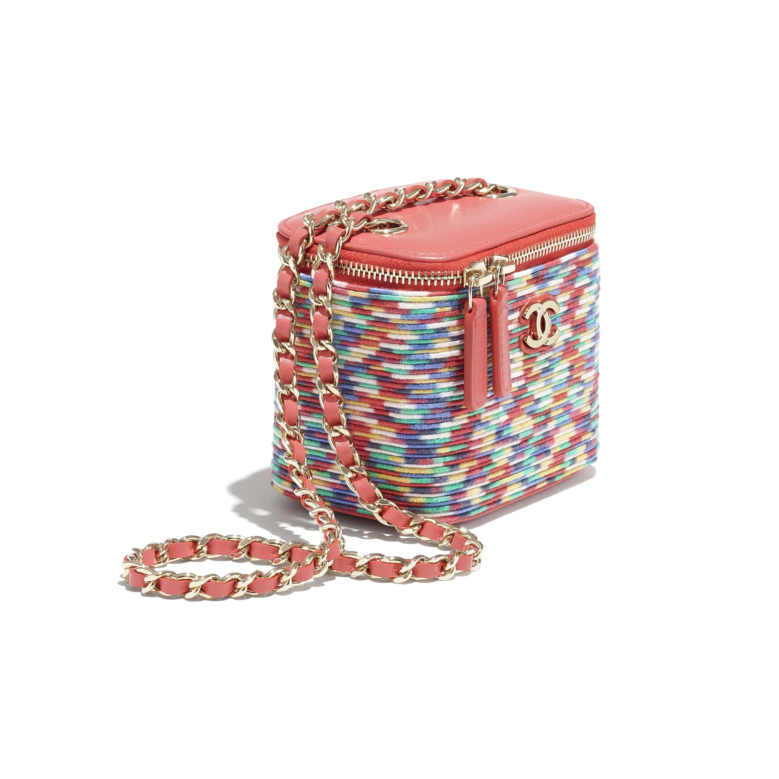 小型鍊子化妝包 - 多色 - Embroidered Thread & Gold-Tone Metal - CHANEL - 額外視圖 - 查看標準尺寸版本
